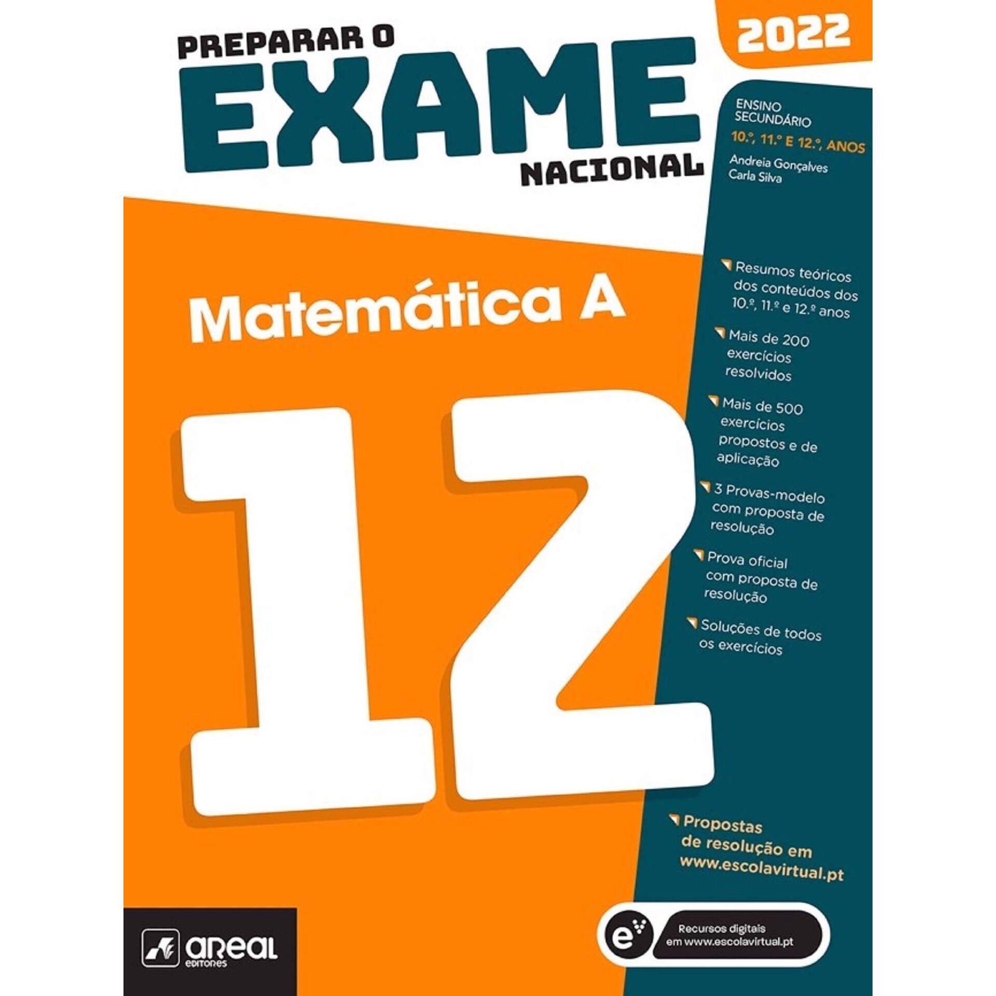 Preparar o Exame Nacional 2022 - Matemática A - 12º Ano