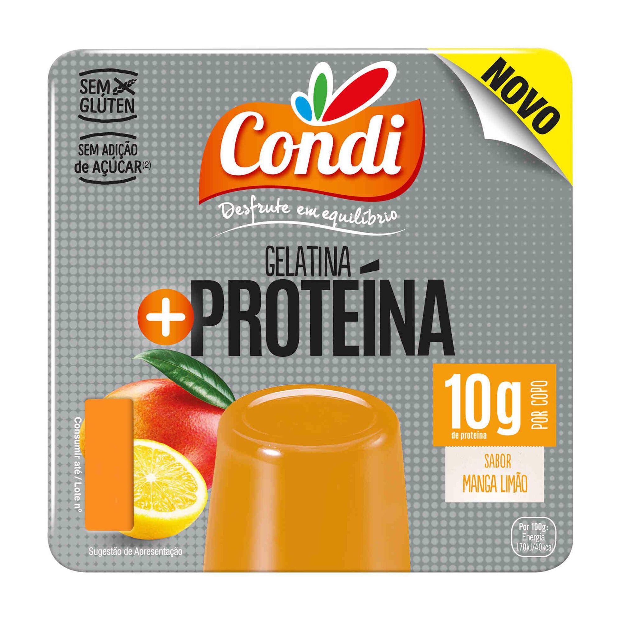 Gelatina Pronta + Proteína Manga e Limão