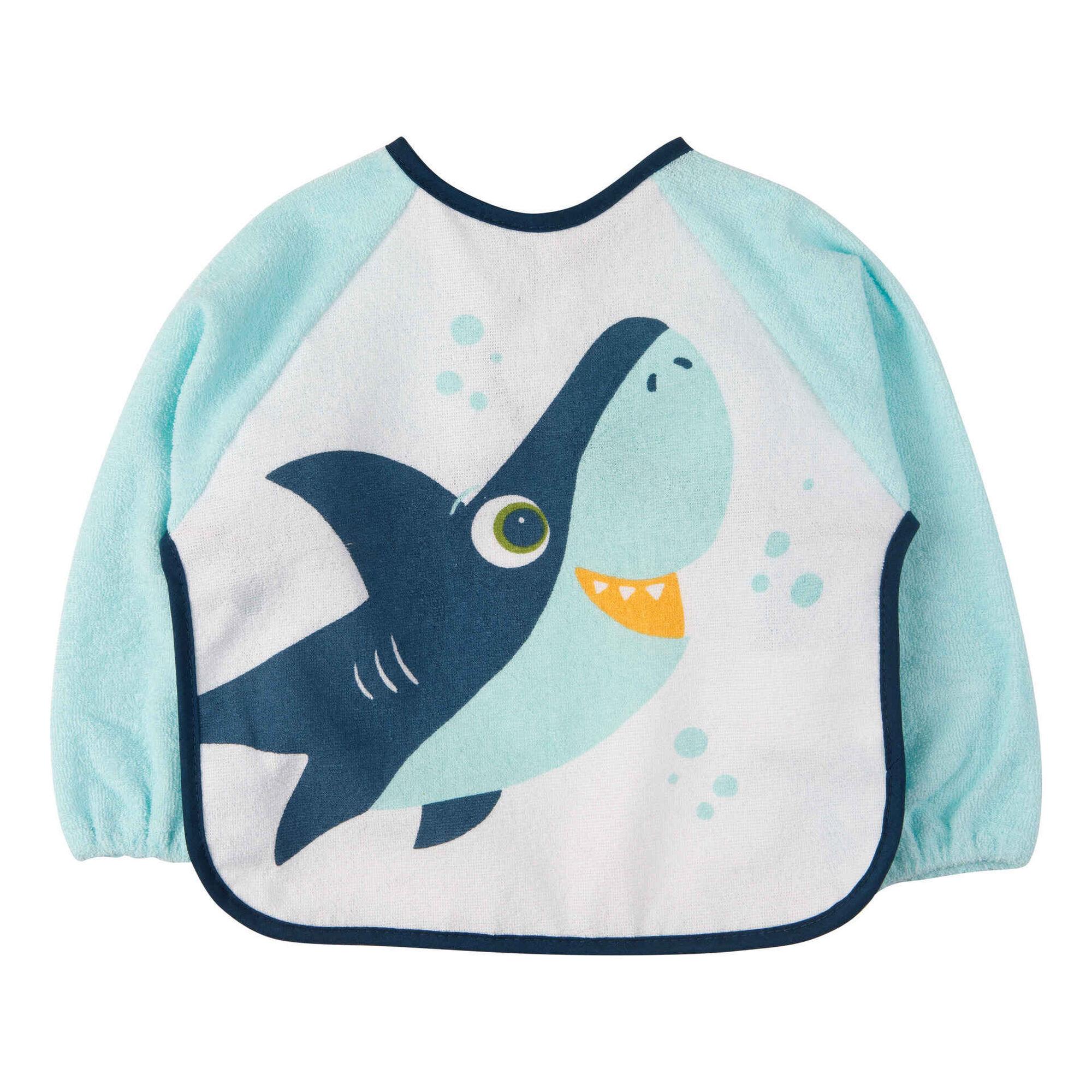 Babete com Mangas Tubarão Azul