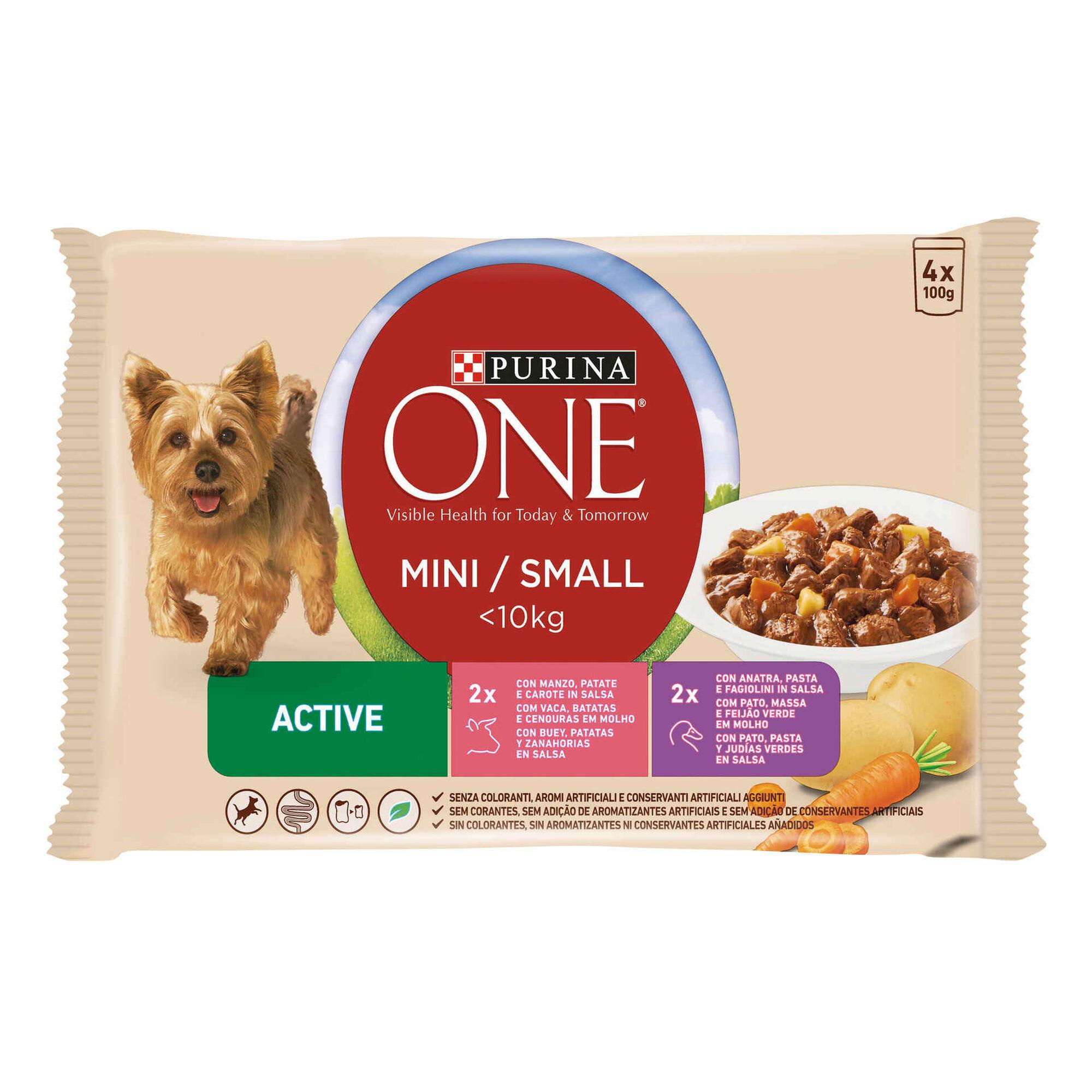 Comida Húmida para Cão Adulto Mini  Active Vaca Saquetas