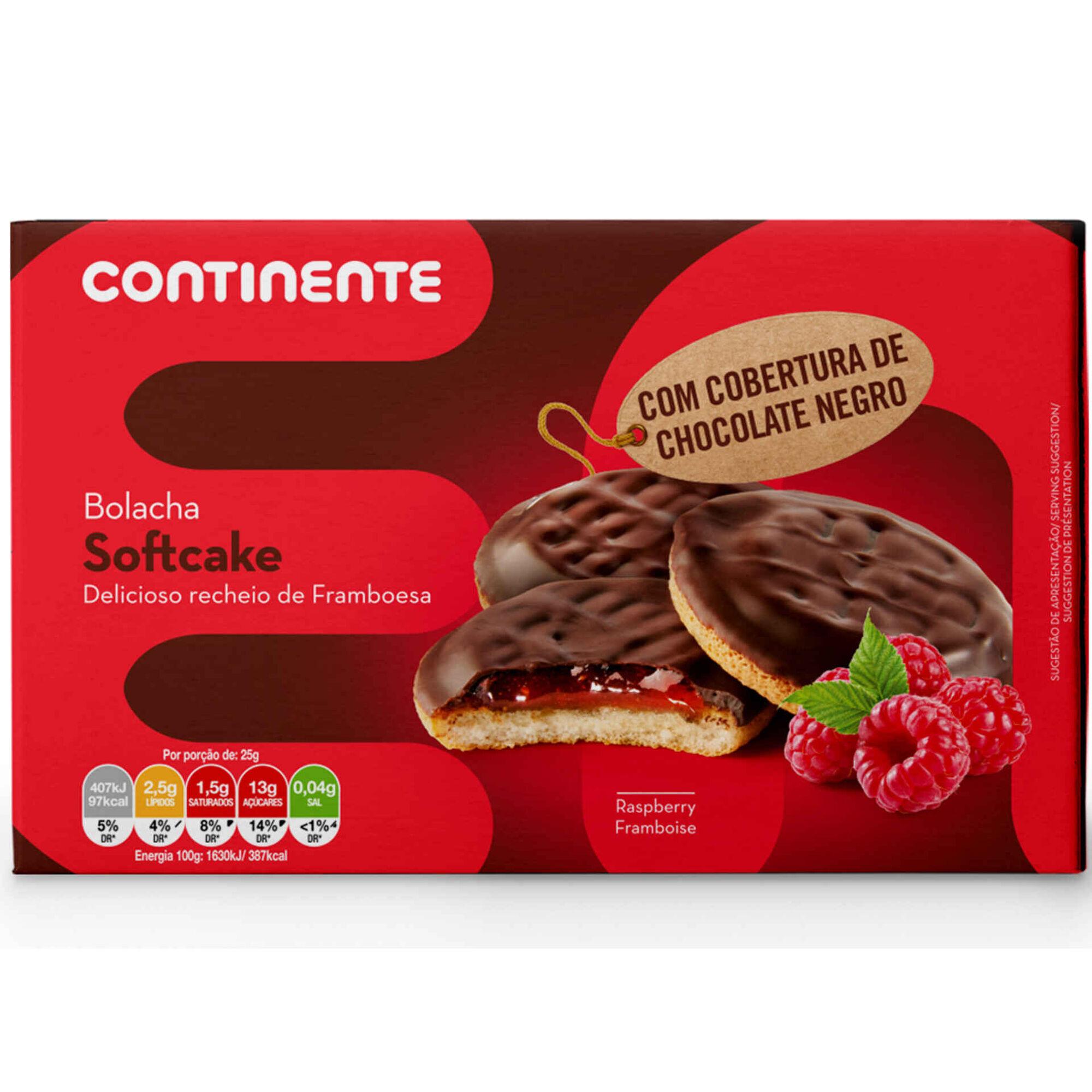 Bolachas Soft Cake de Framboesa e Chocolate Negro