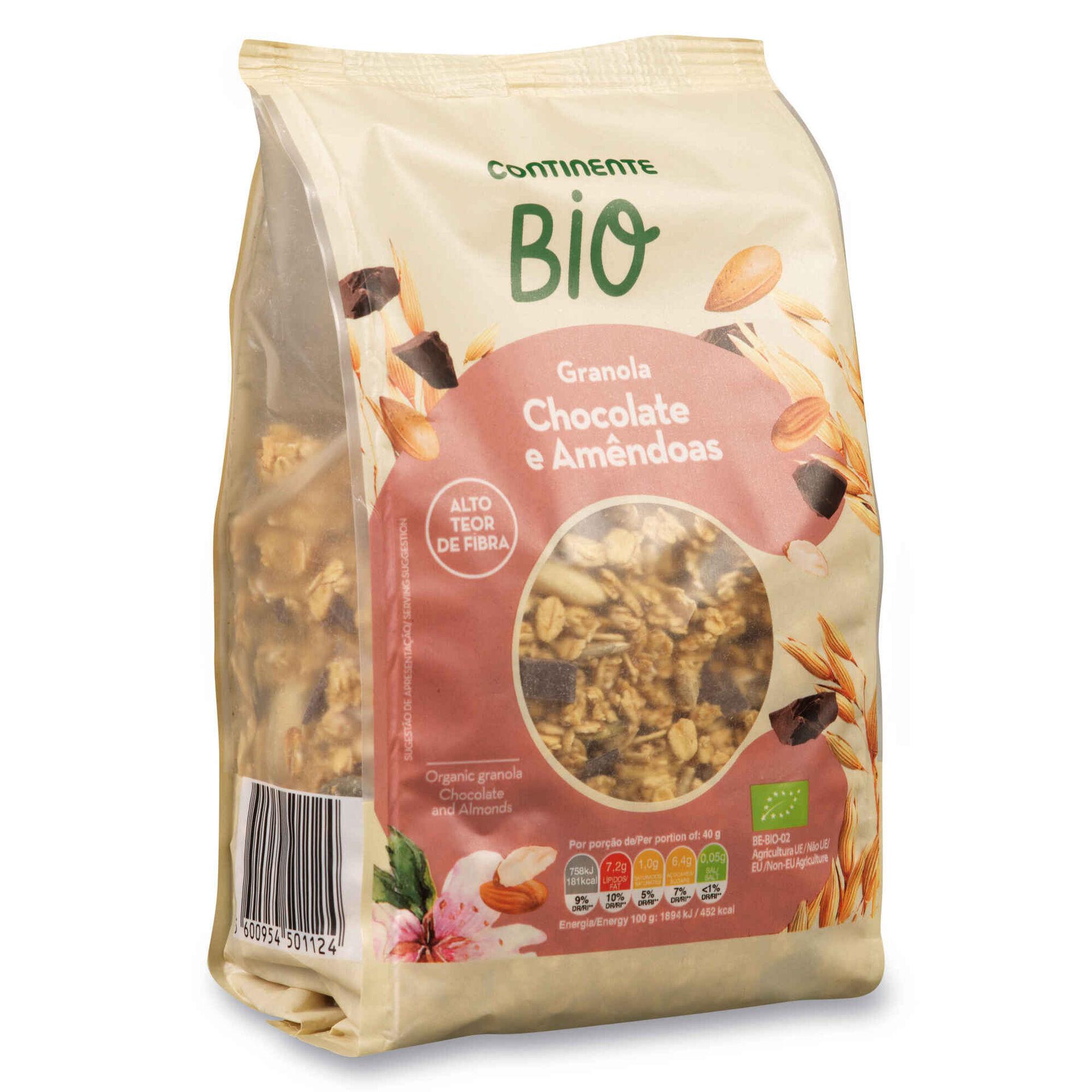 Granola Chocolate e Amêndoa Biológica