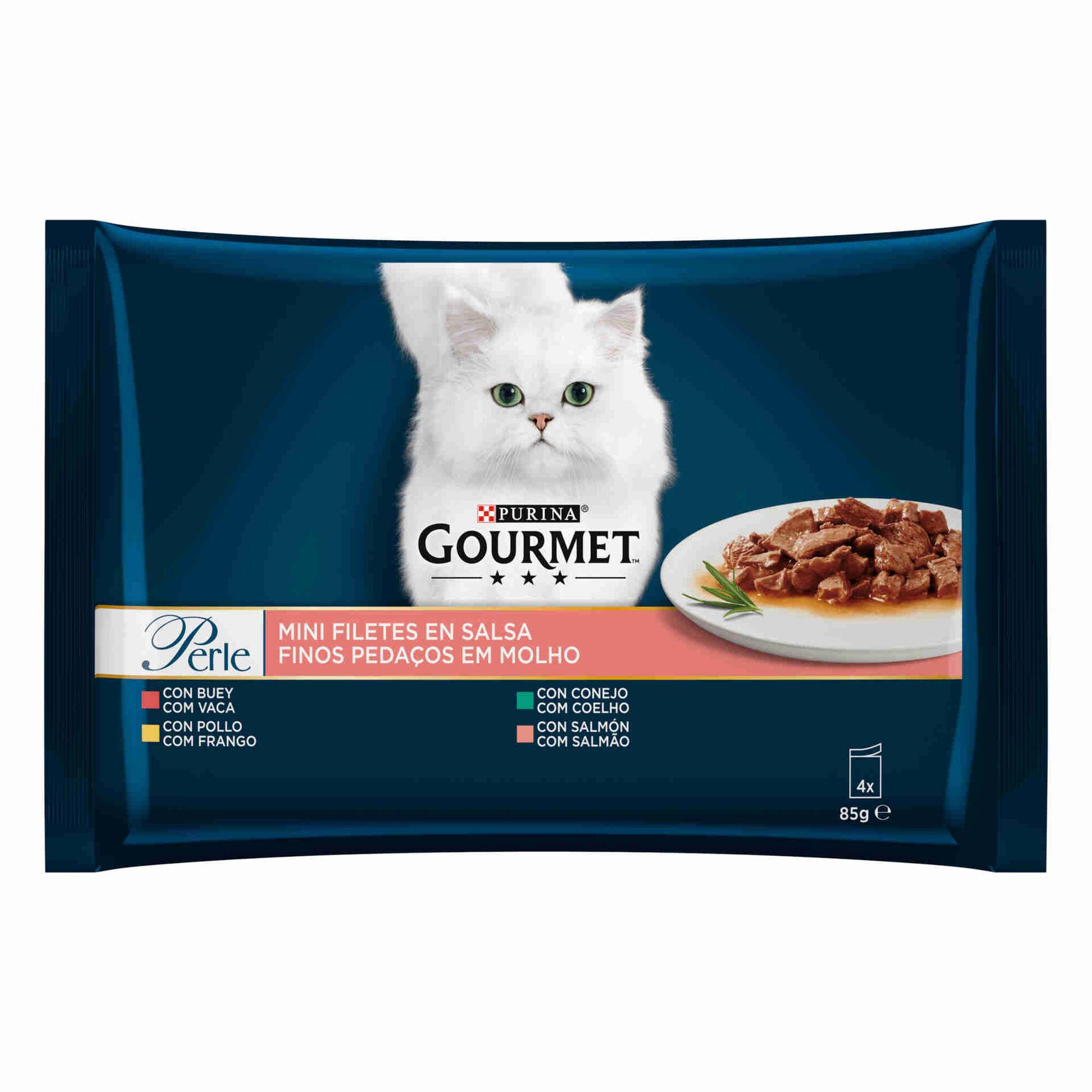 Comida Húmida para Gato Adulto Finos Pedaços em Molho Saquetas