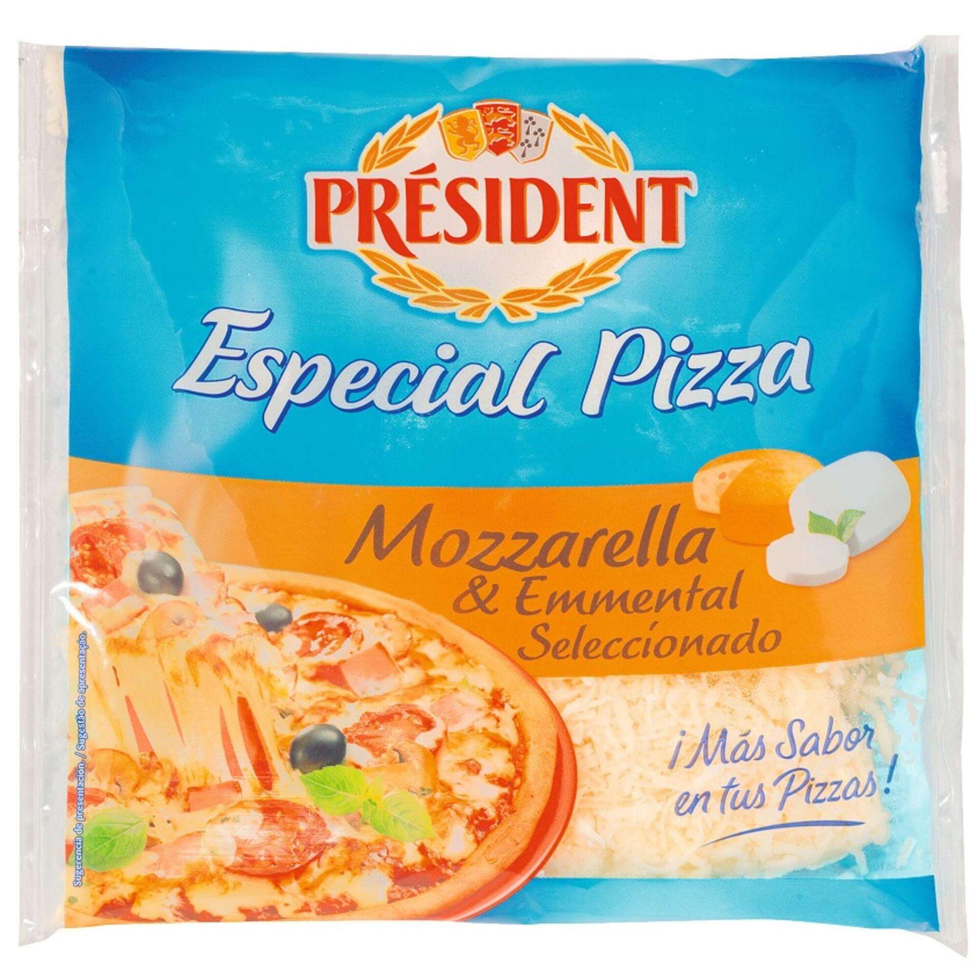 Queijo Mozzarella e Emmental para Pizza Ralado