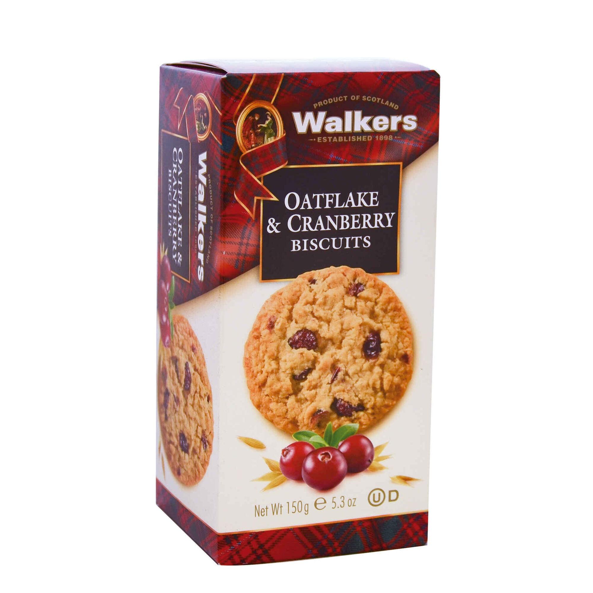 Bolachas de Manteiga Oatflakes and Cranberry