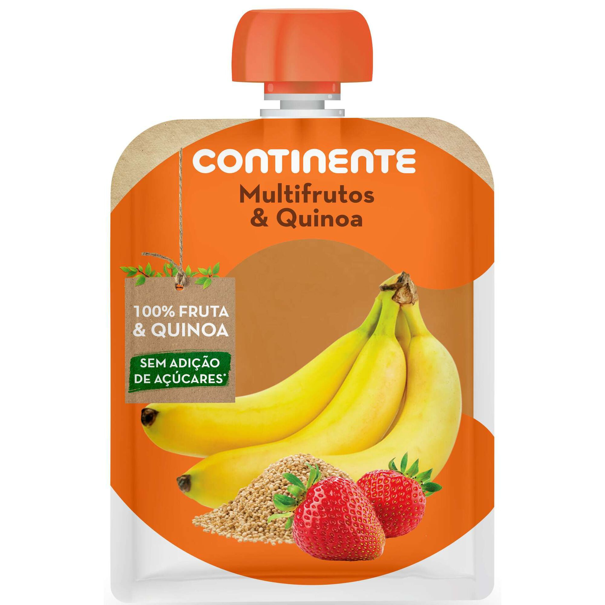Saqueta de Fruta Banana, Morango e Quinoa