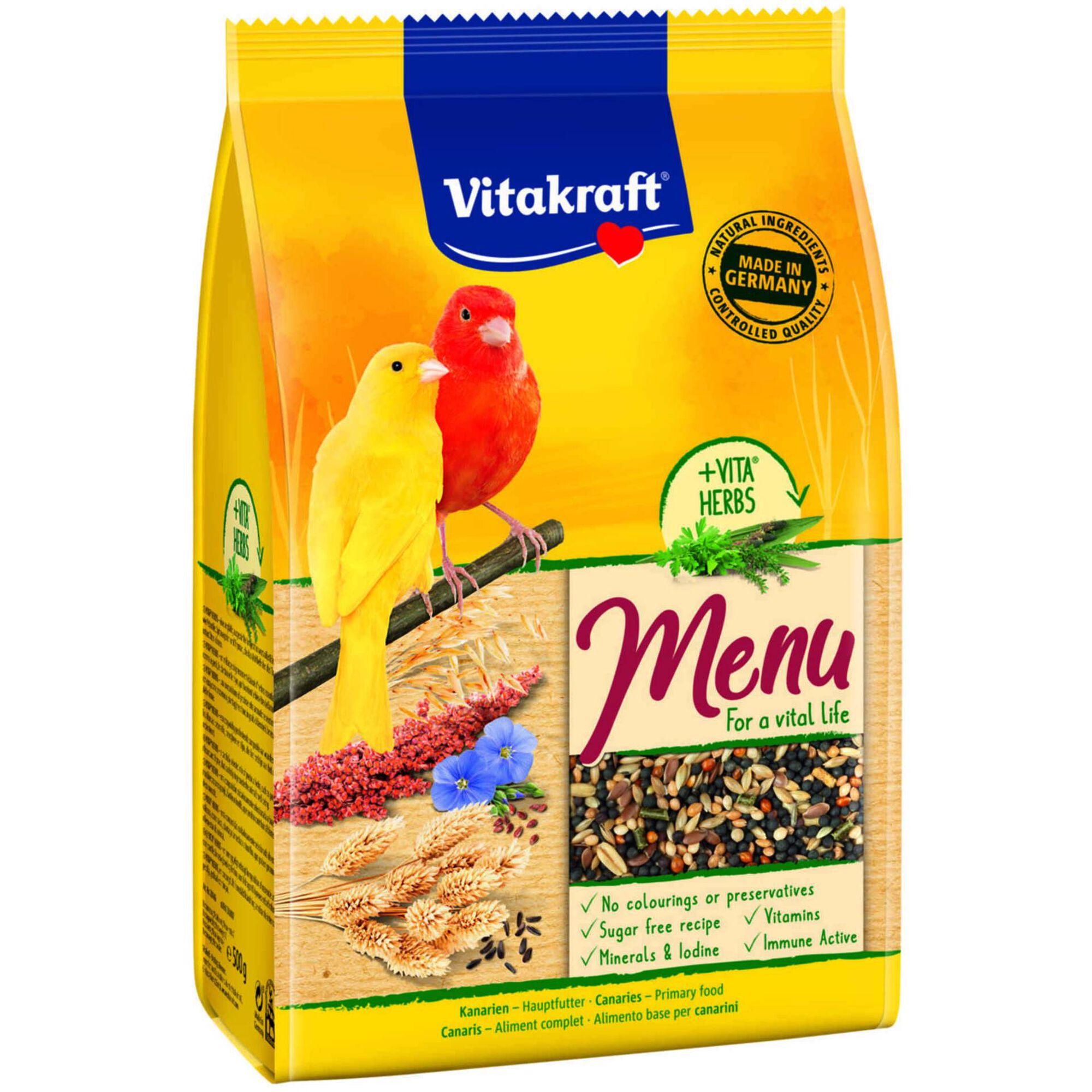 Comida para Canário Menu