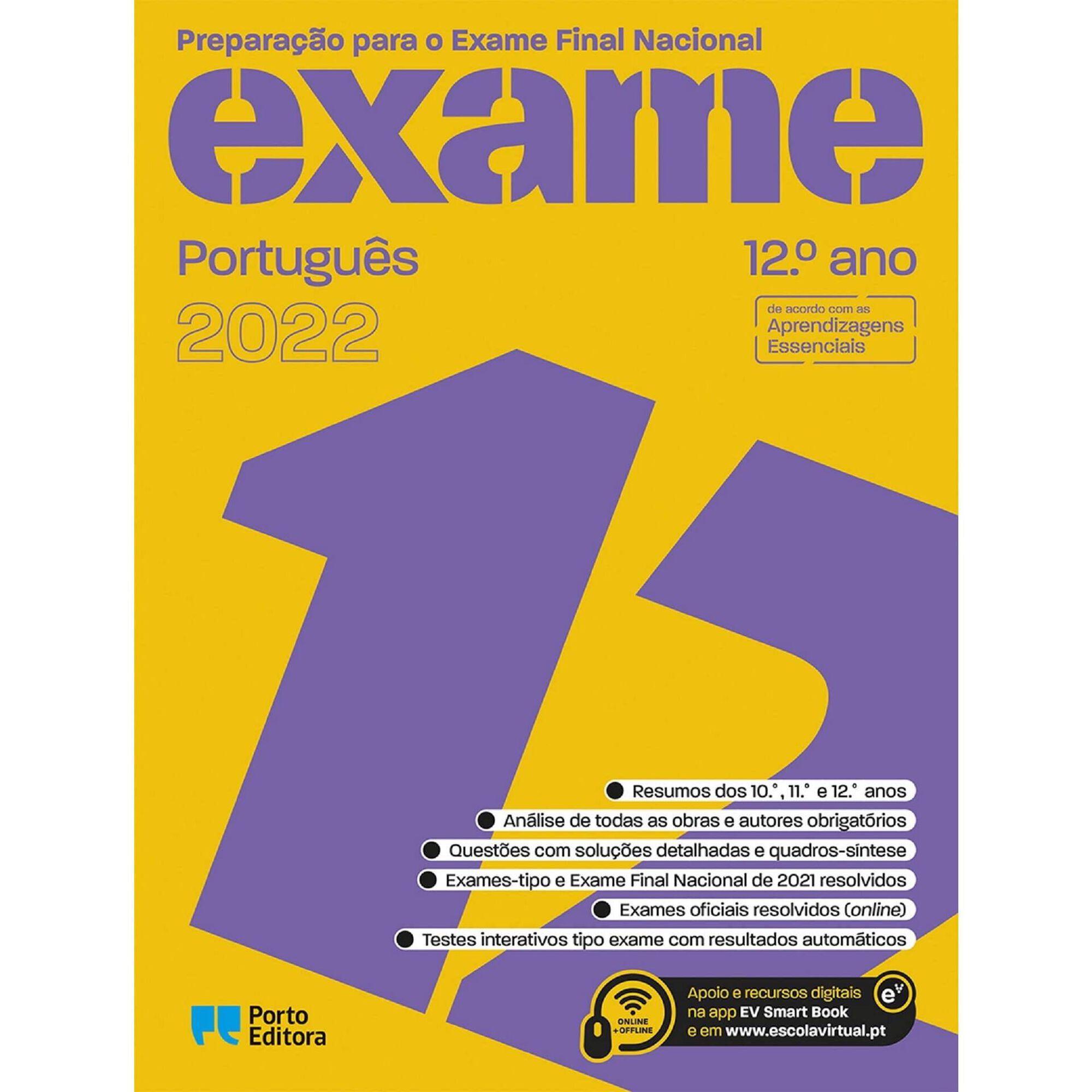 Preparação Para o Exame Final Nacional 2022 - Português - 12º Ano