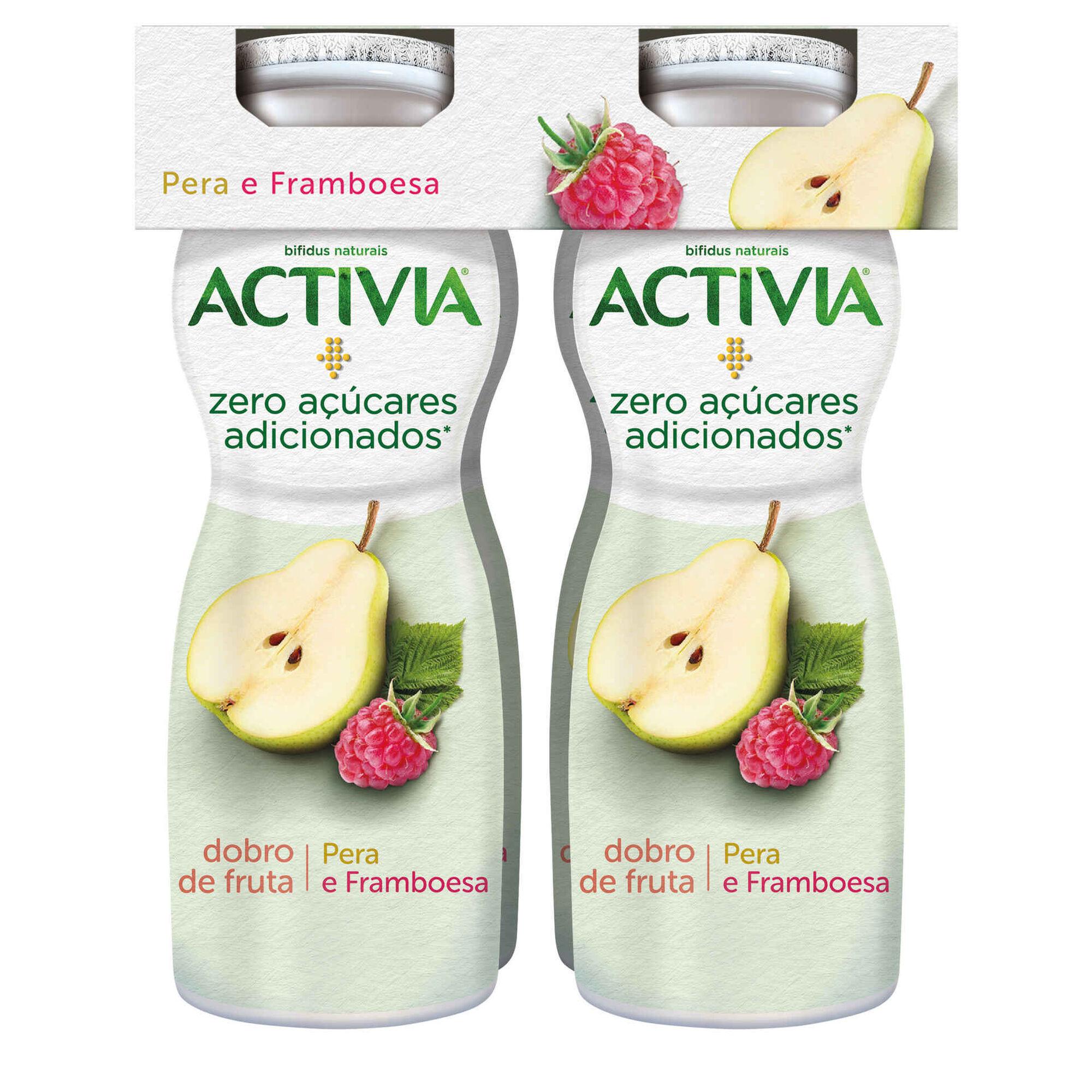 Iogurte Líquido Bifidus Pera e Framboesa Activia sem Açúcar