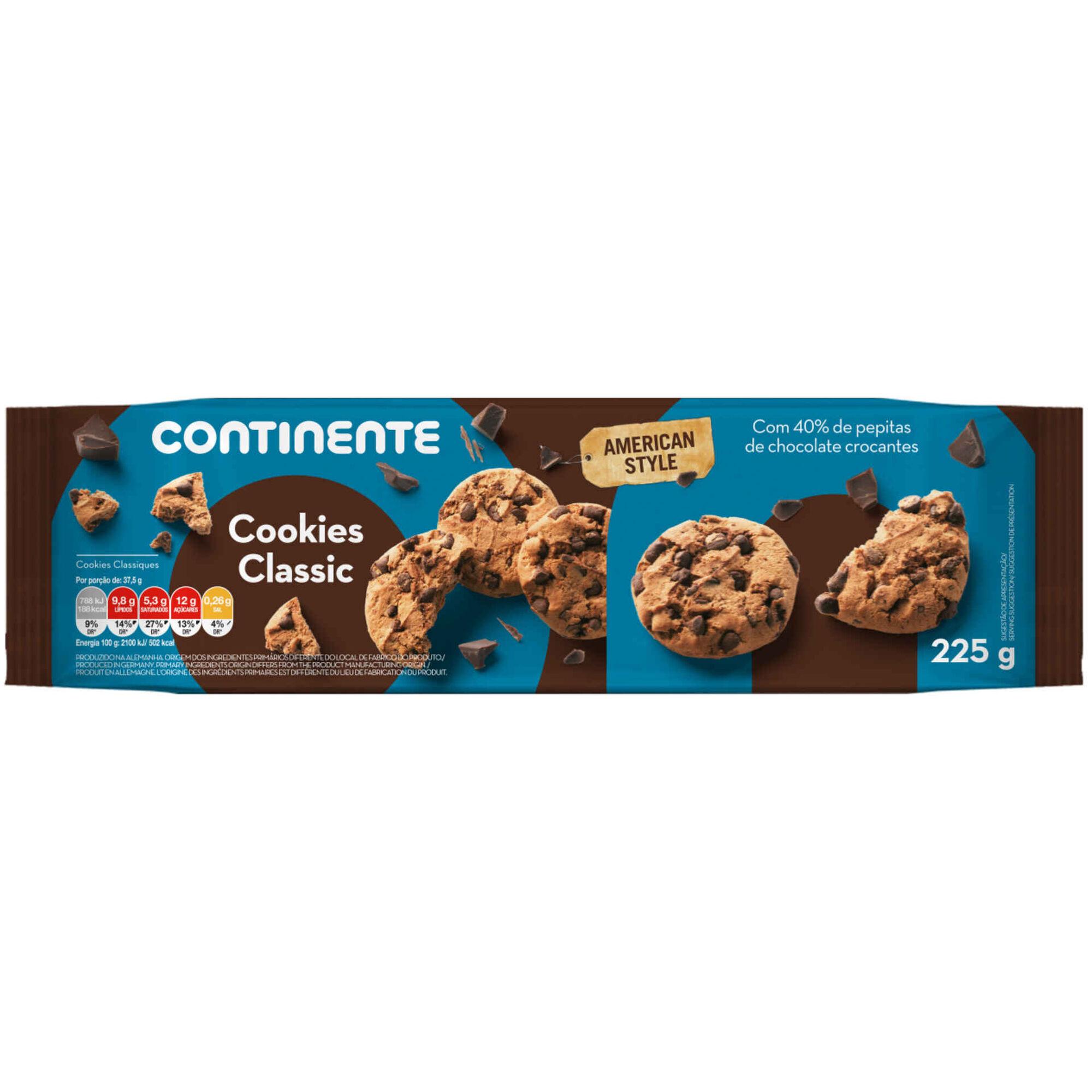 Bolachas Cookies com Pepitas de Chocolate