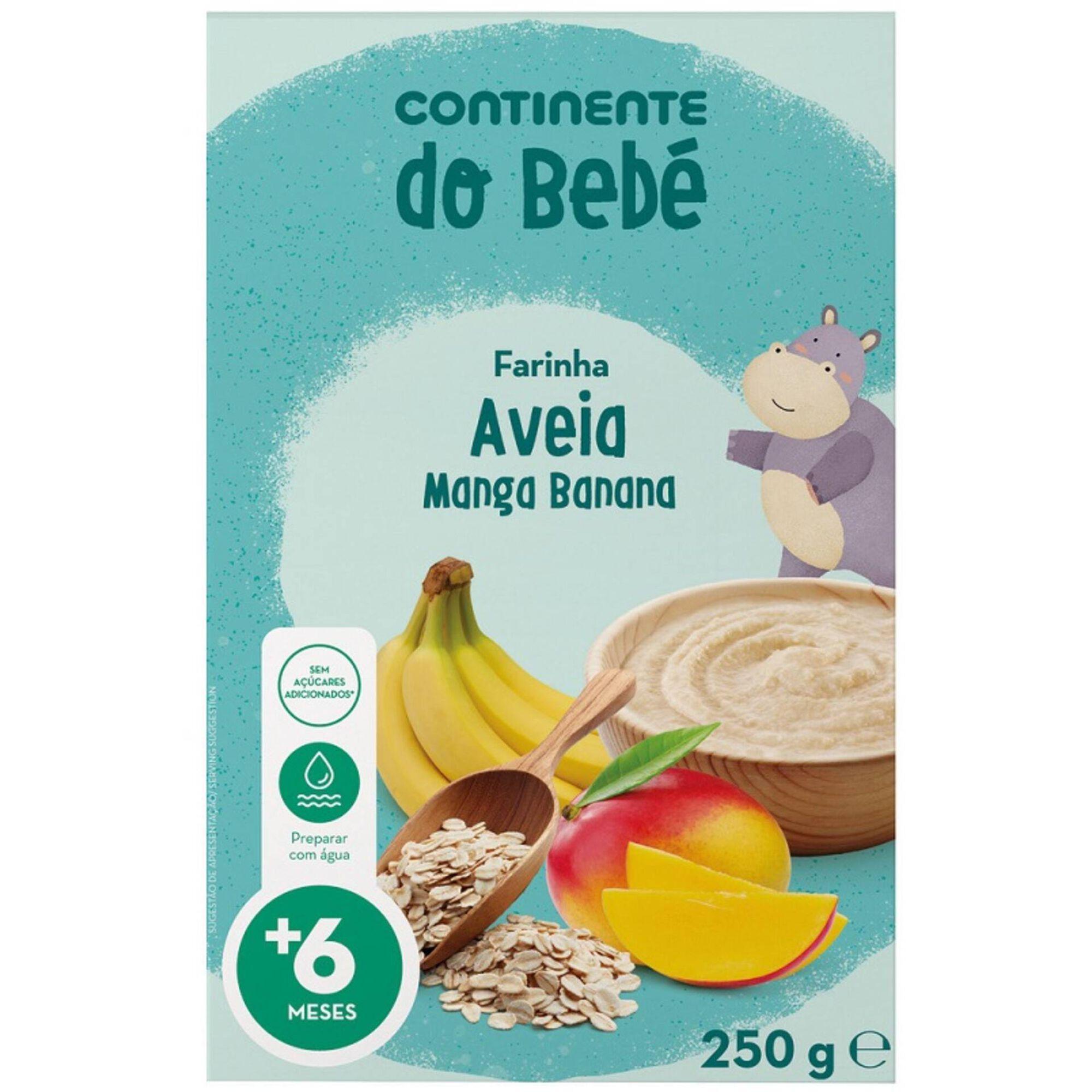 Papa Infantil Farinha Láctea Aveia, Banana e Manga +6 Meses