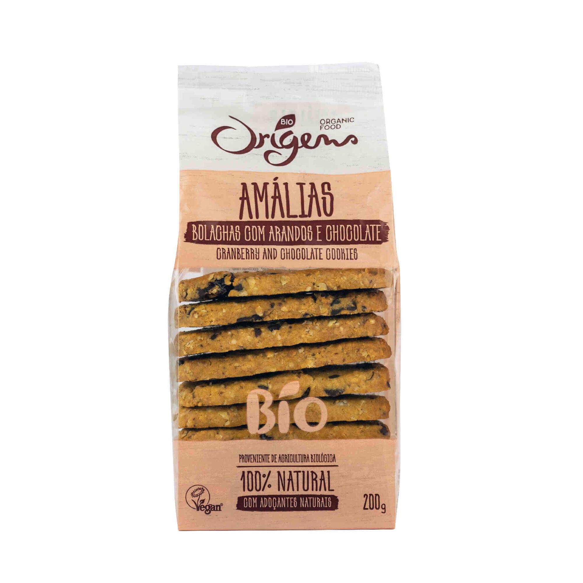 Bolachas Amálias com Arandos e Chocolates Biológicas