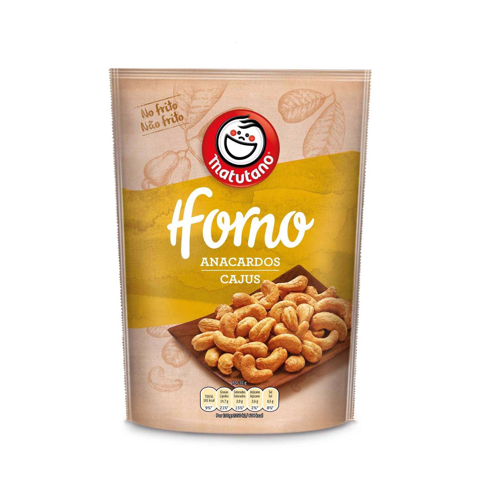 Snack Caju no Forno