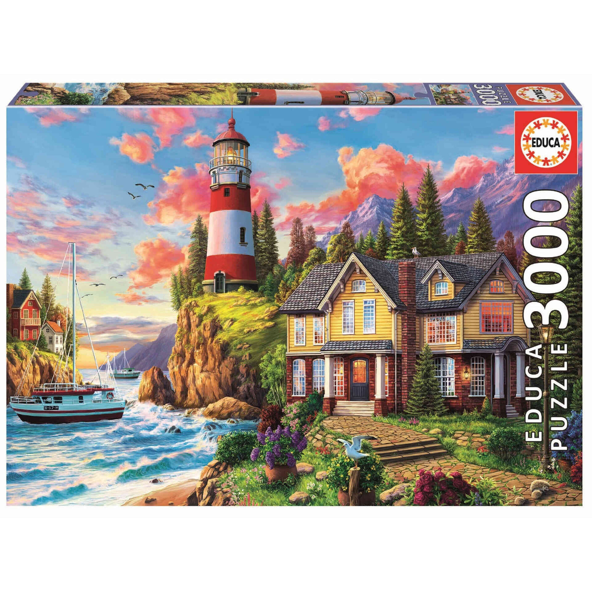 Puzzle Farol Junto ao Oceano 3000 Peças