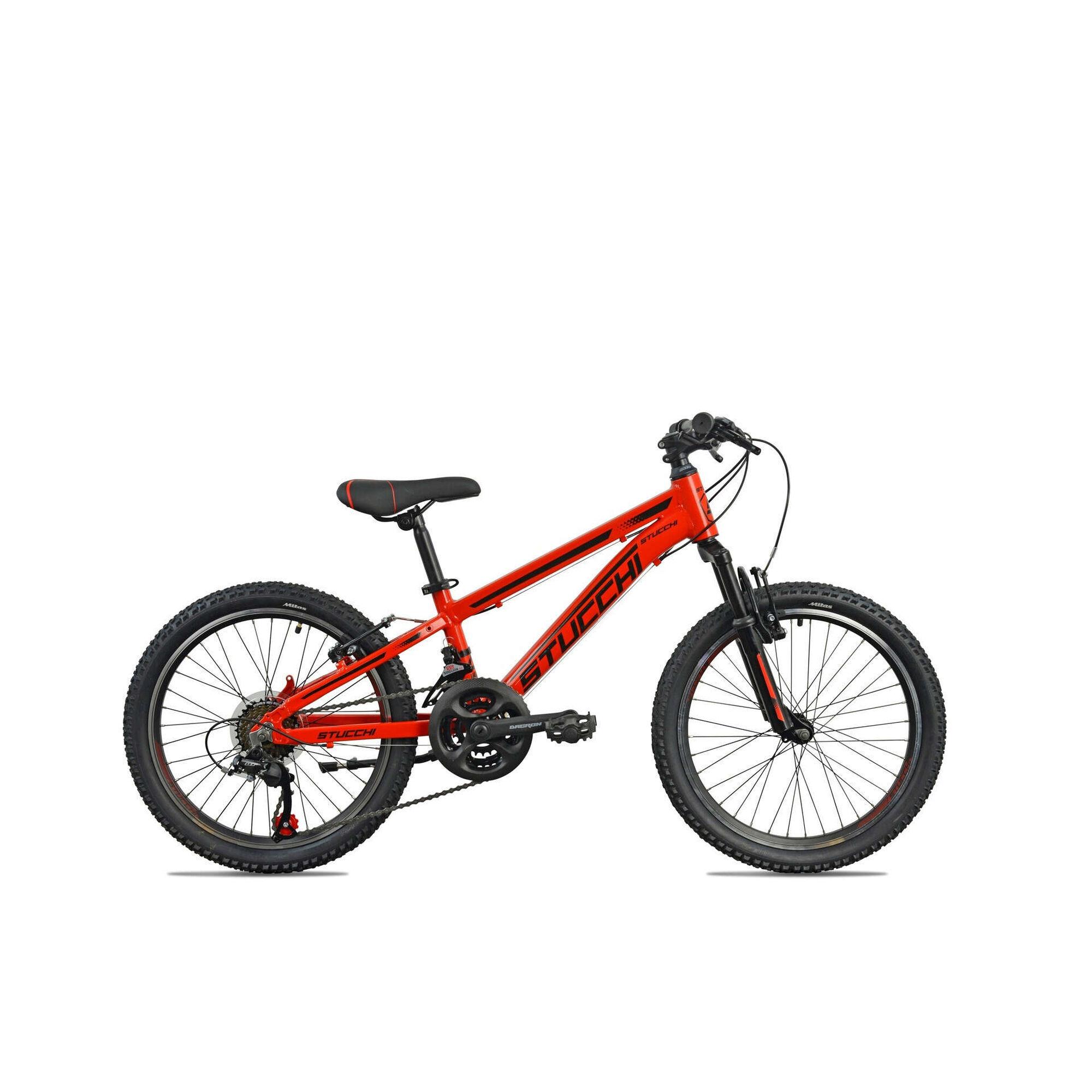 """Bicicleta Júnior Roda 20"""" 7-9 Anos 21V Vermelha"""