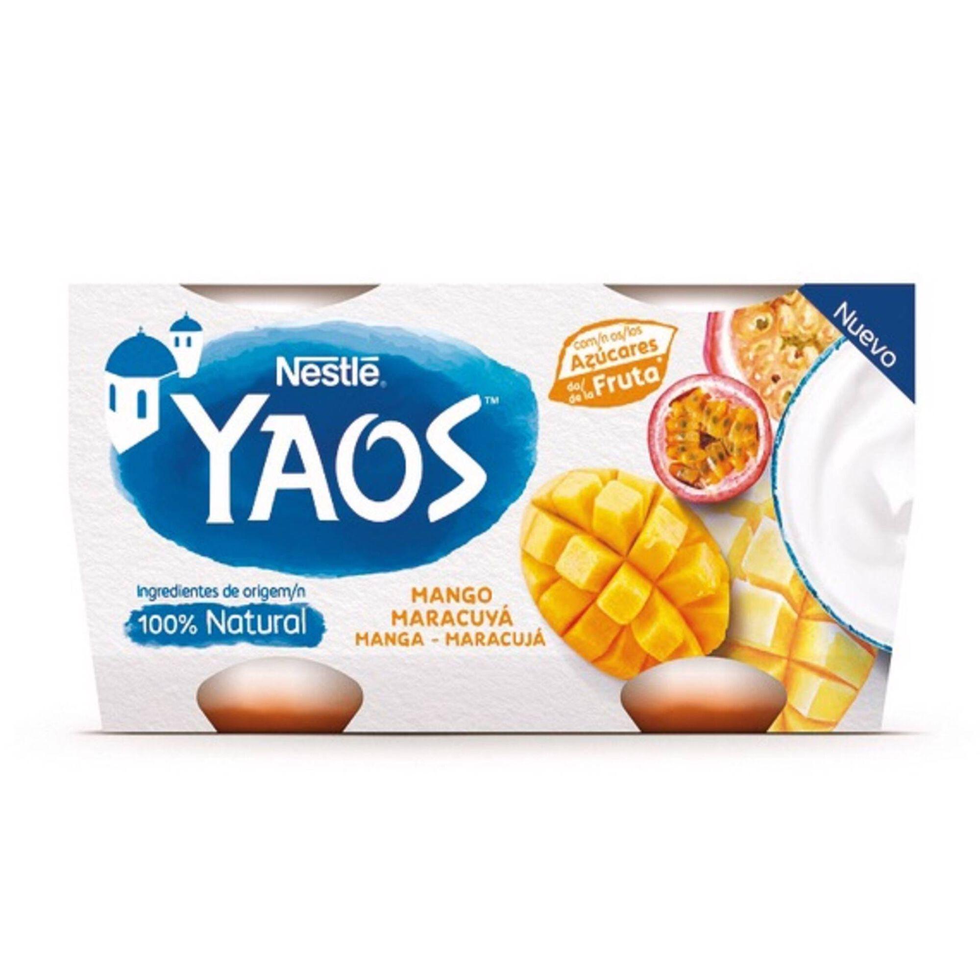 Iogurte Grego Yaos Manga e Maracujá