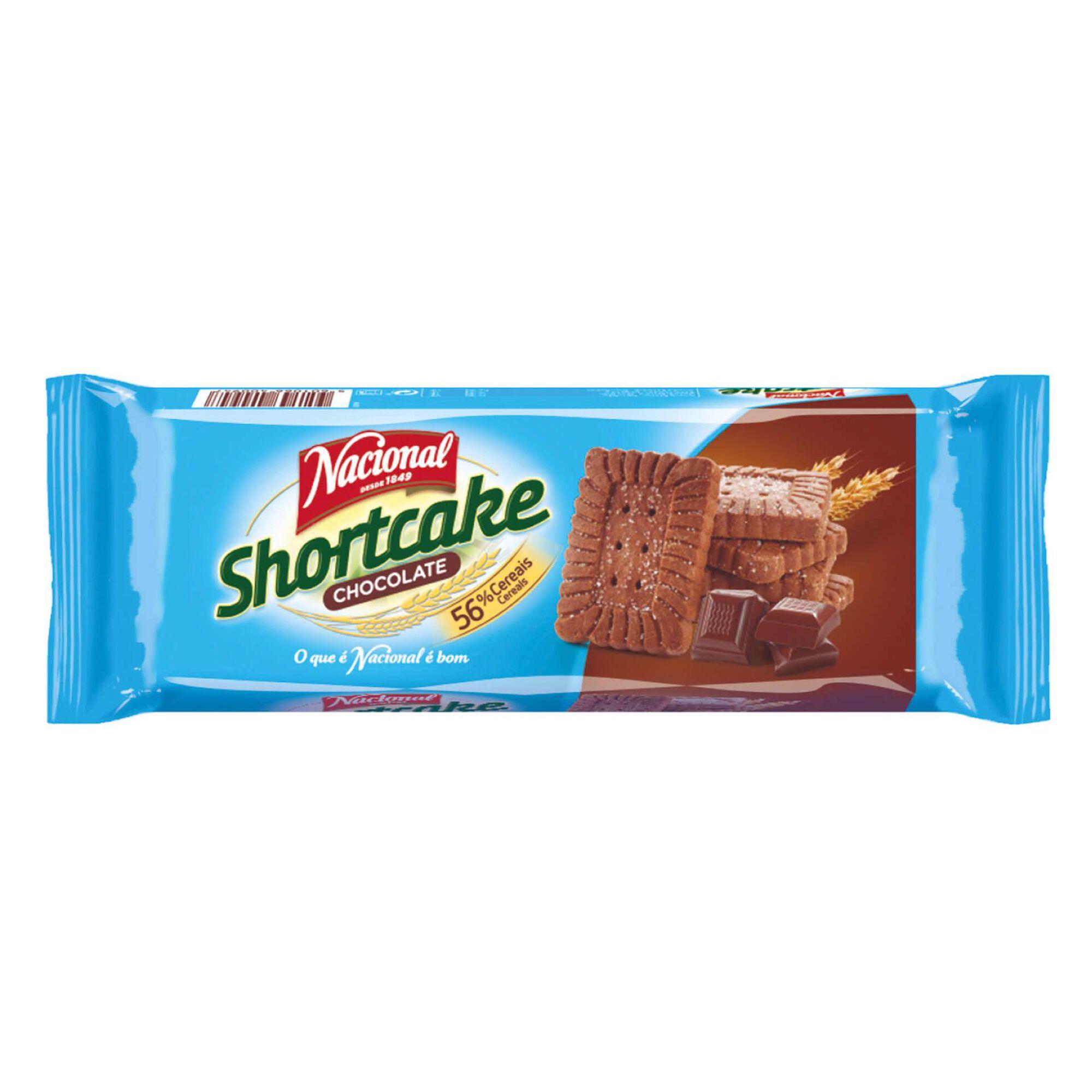 Bolachas Shortcake de Chocolate