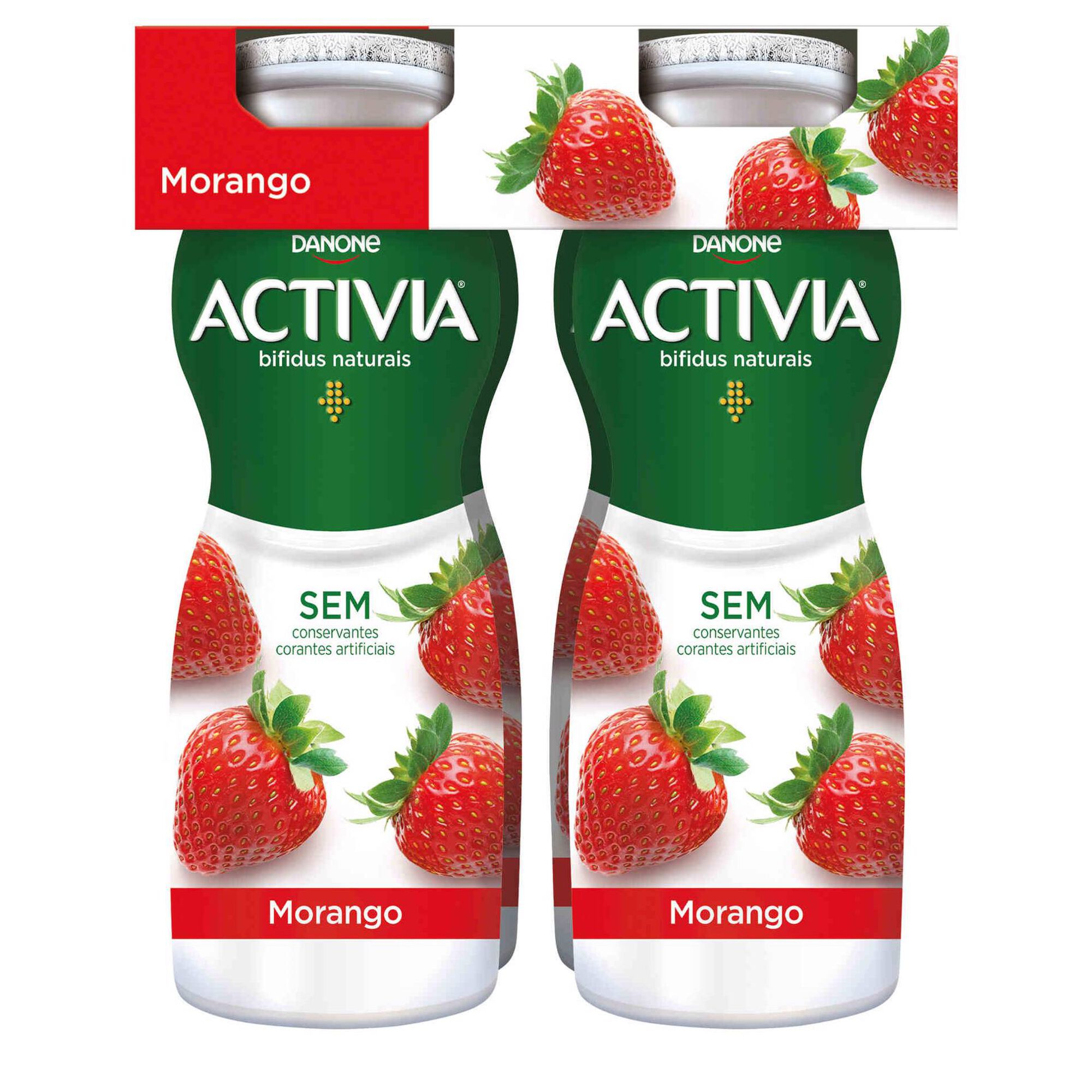 Iogurte Líquido Bifidus Probióticos Morango Activia