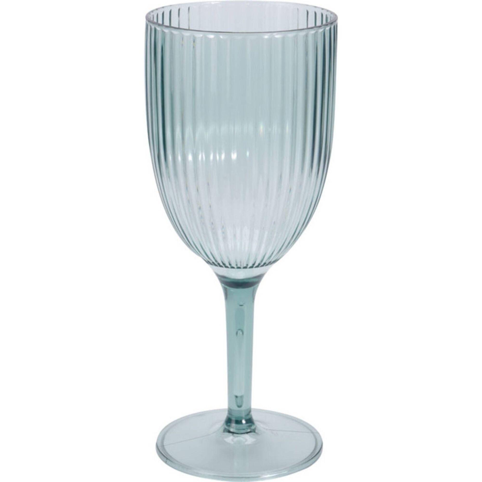 Copo Água com Pé Plástico 40cl Stripe
