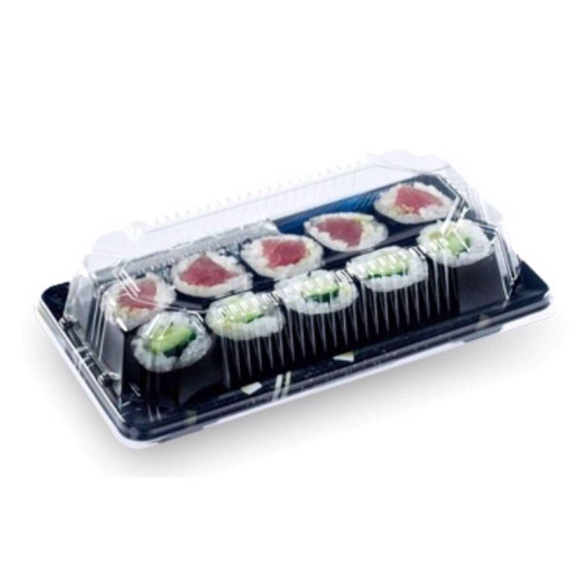 Tampa Embalagem Sushi Transparente