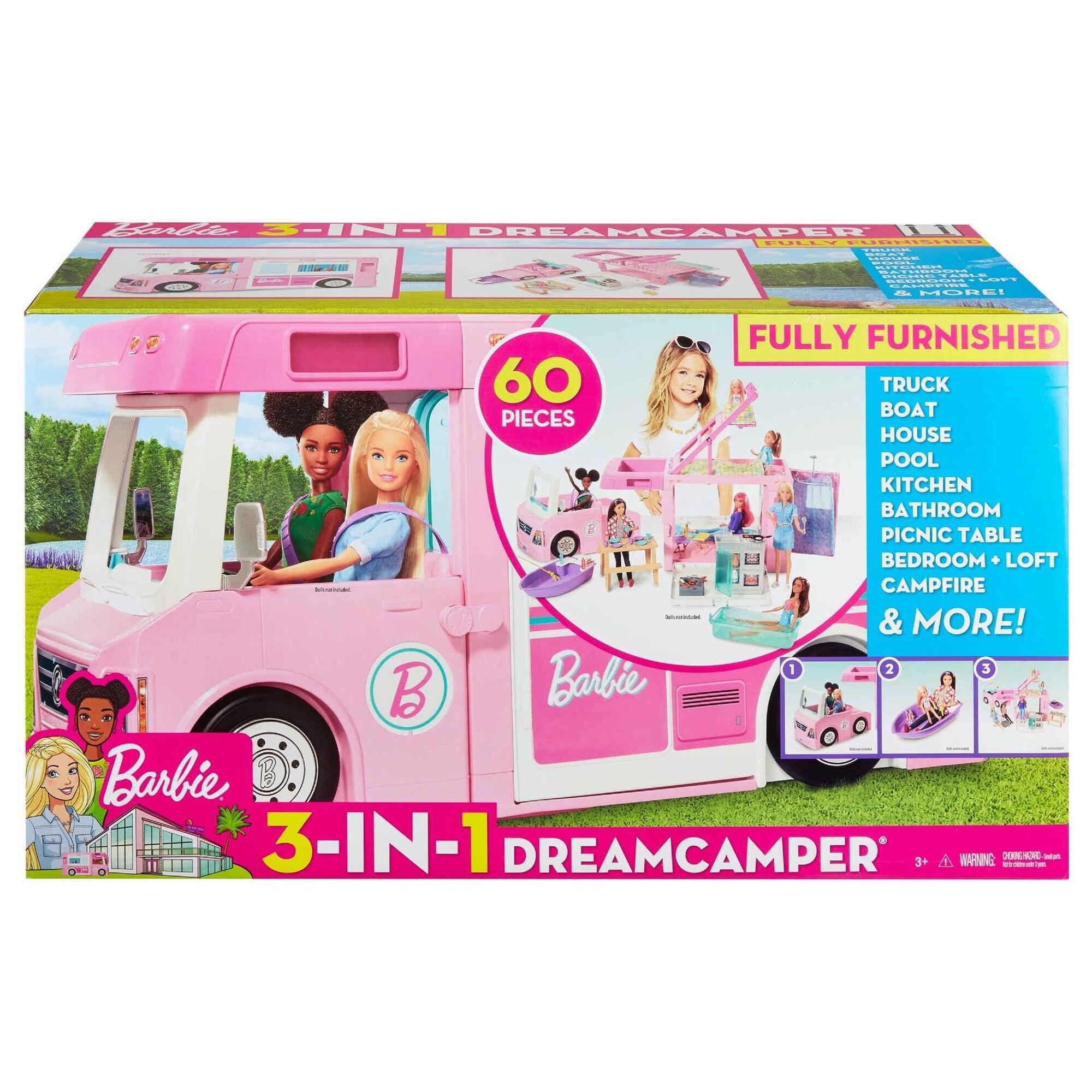 Veículo Barbie Caravana de Sonho 3 em 1
