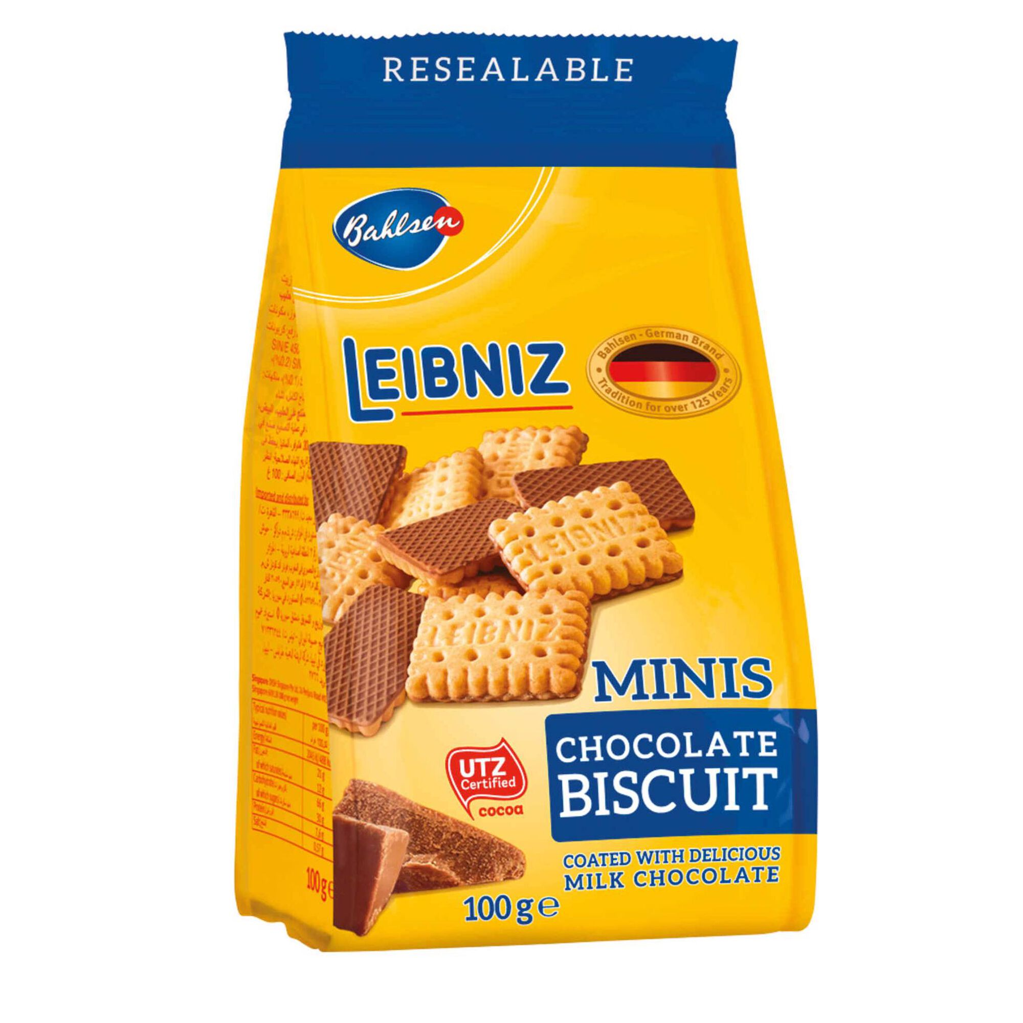 Bolachas Mini Cobertura de Chocolate Leibniz