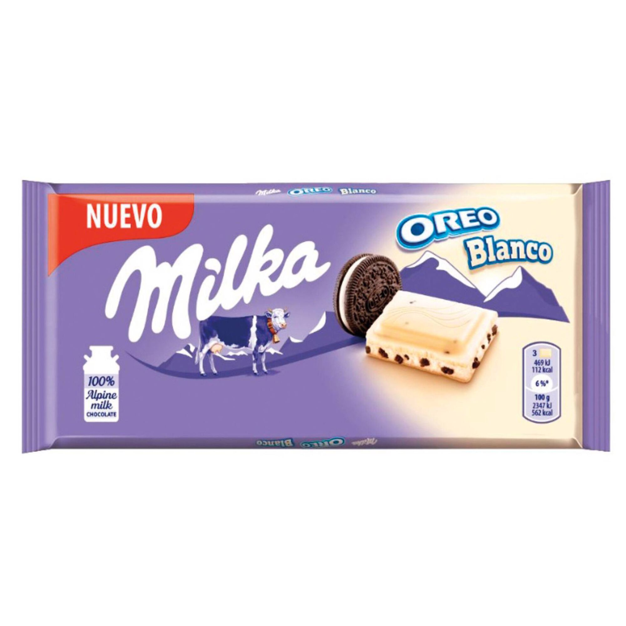 Tablete de Chocolate Branco com Oreo