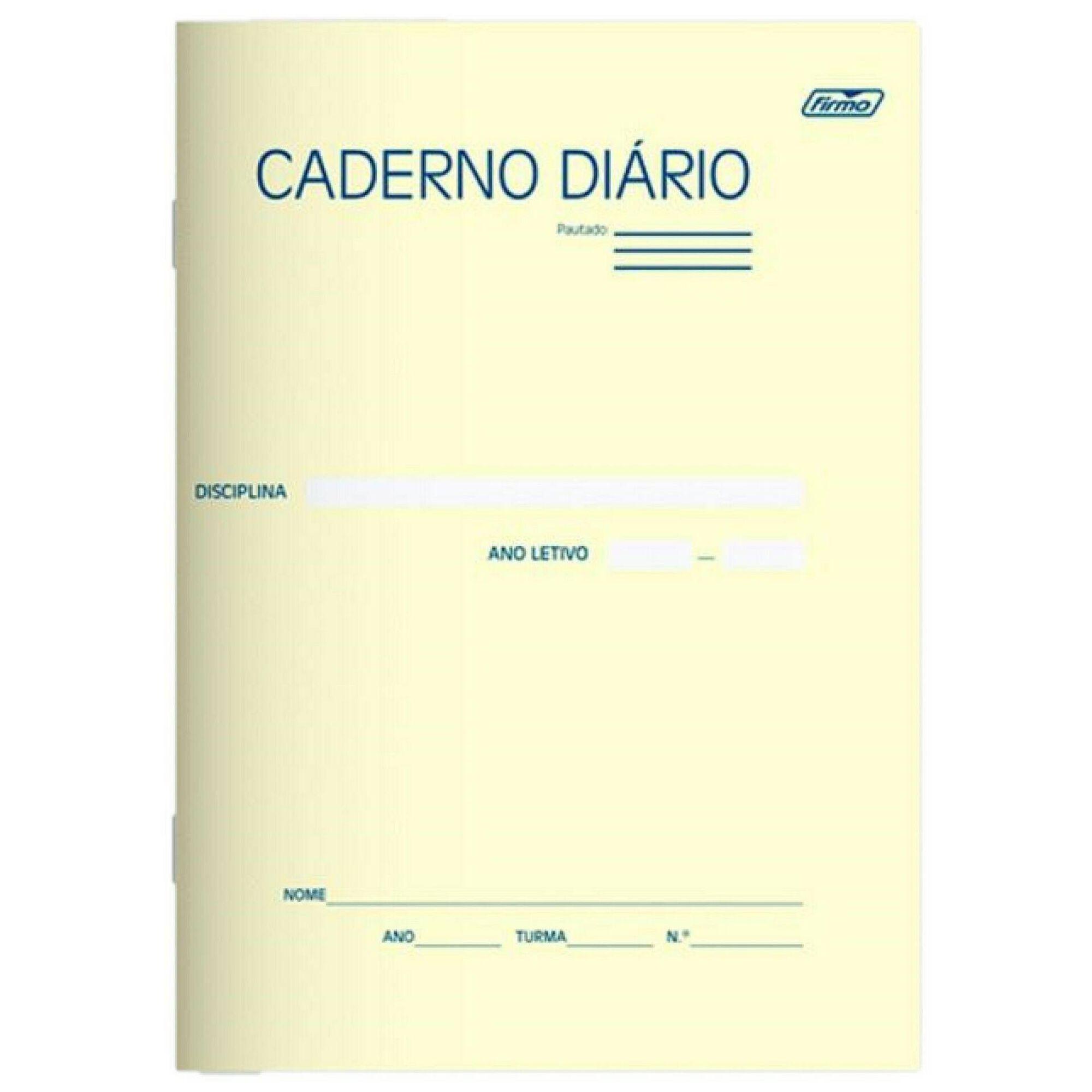 Caderno Diário Agrafado A5 Pautado