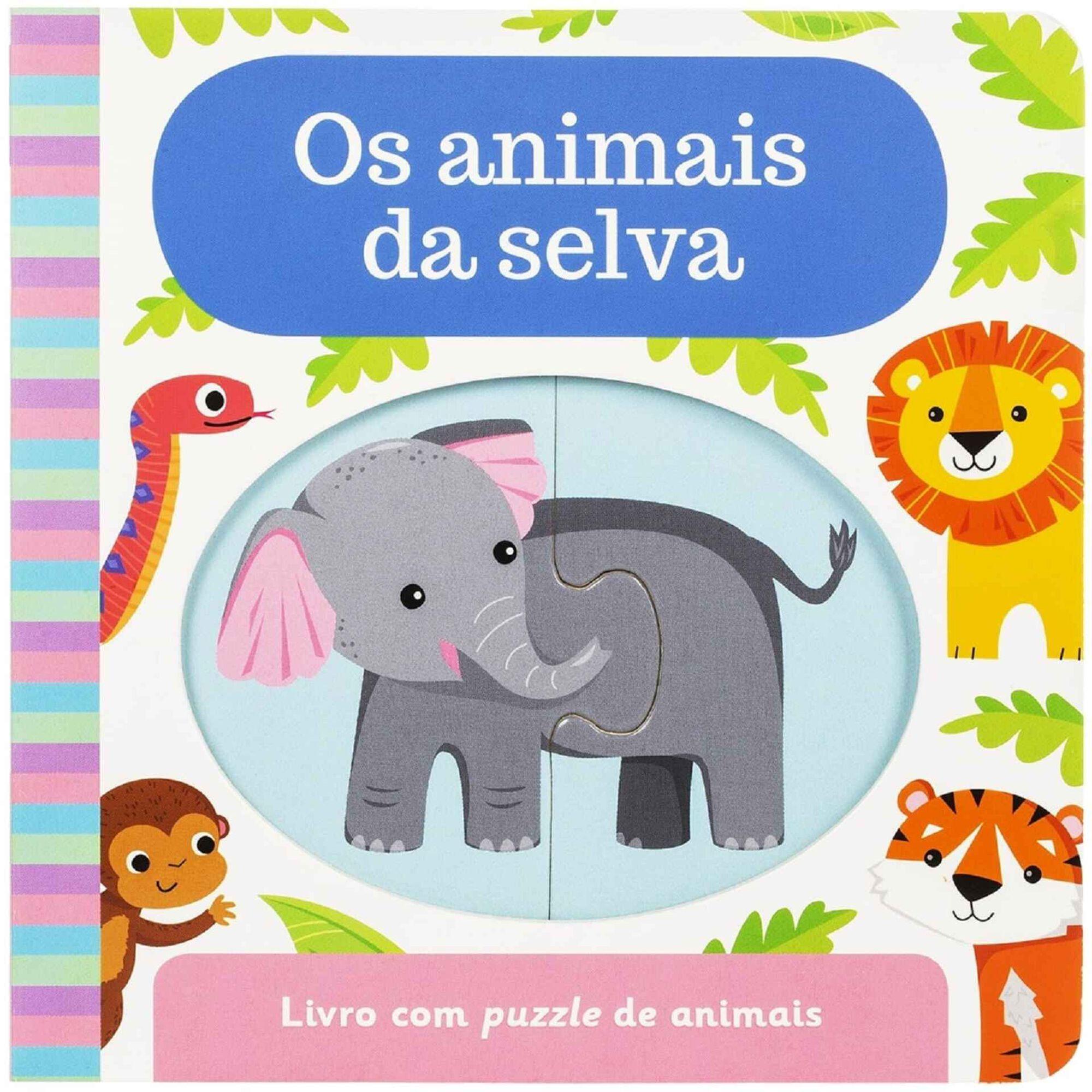 Livro Puzzle - Os Animais da Selva