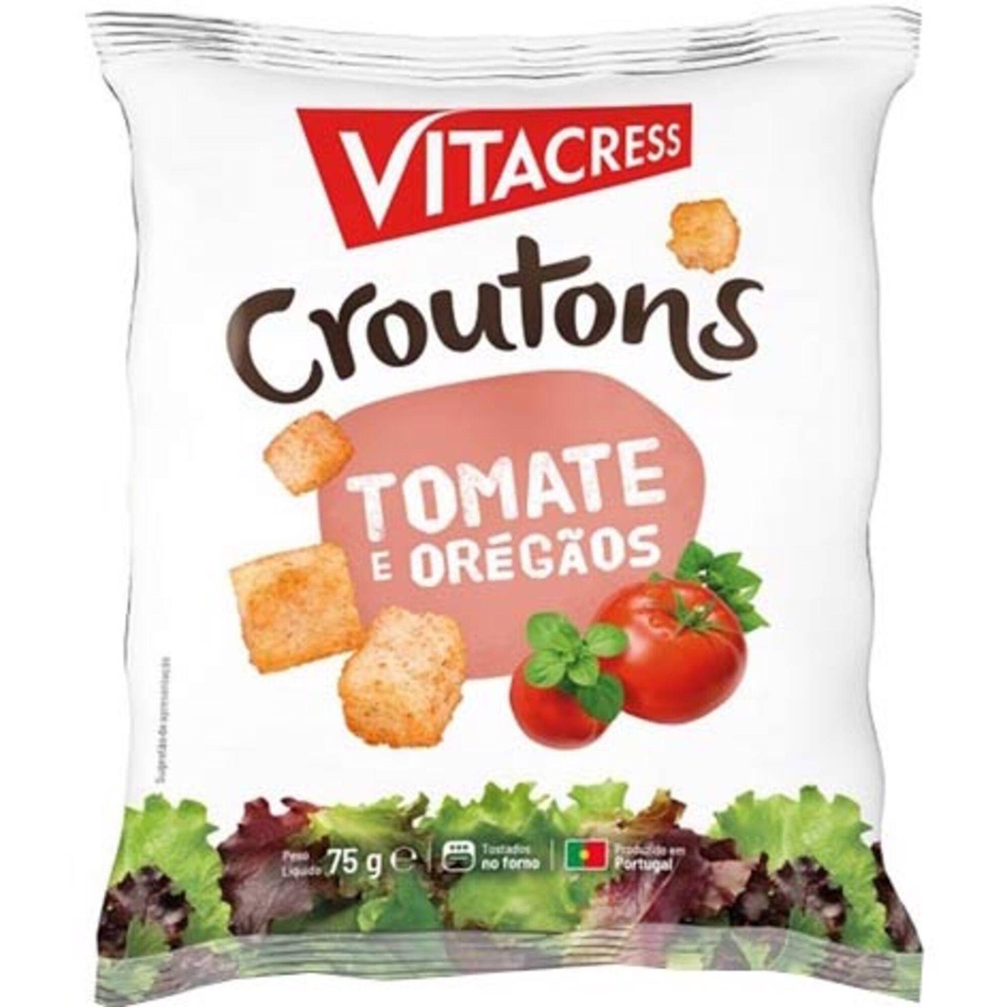 Croutons com Tomate e Oregãos