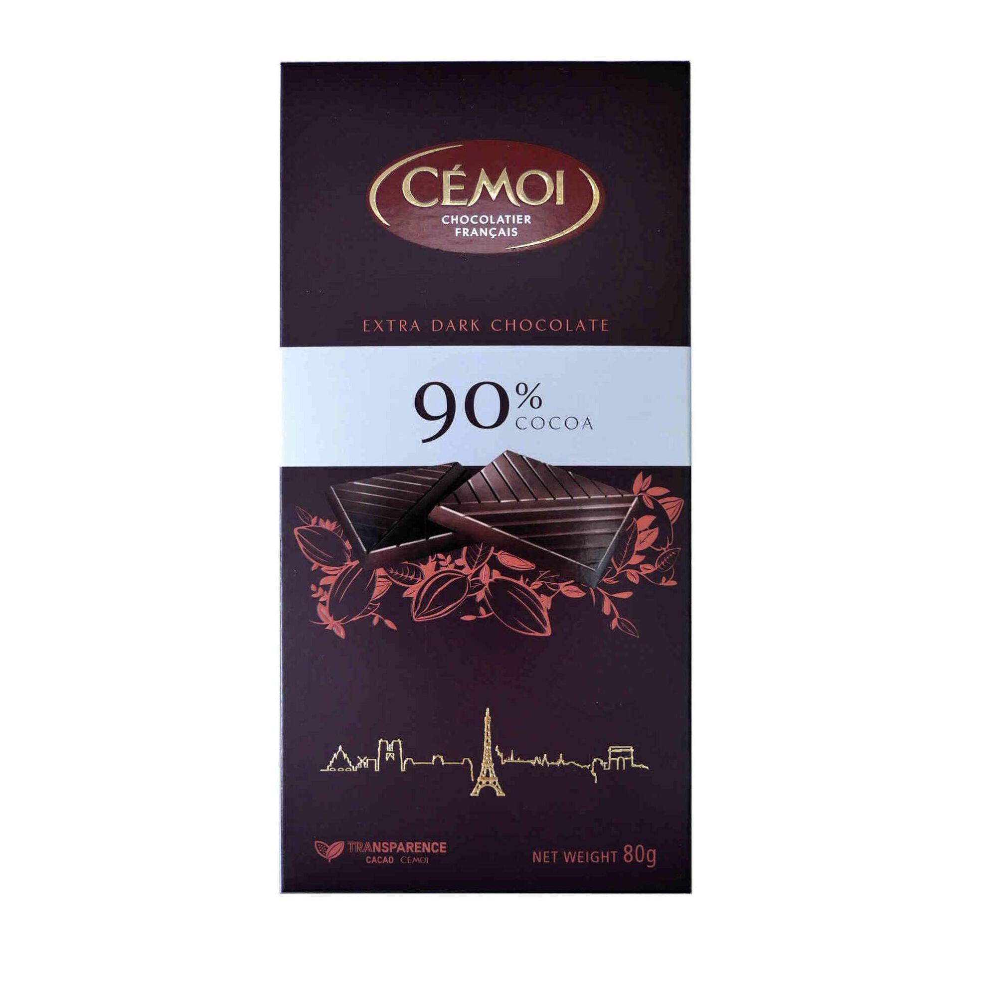 Tablete de Chocolate Negro 90% Cacau