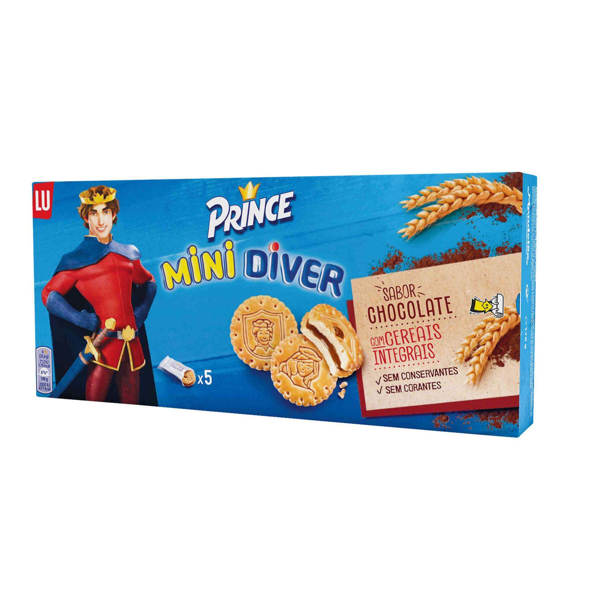 Bolachas Mini Diver com Recheio de Chocolate