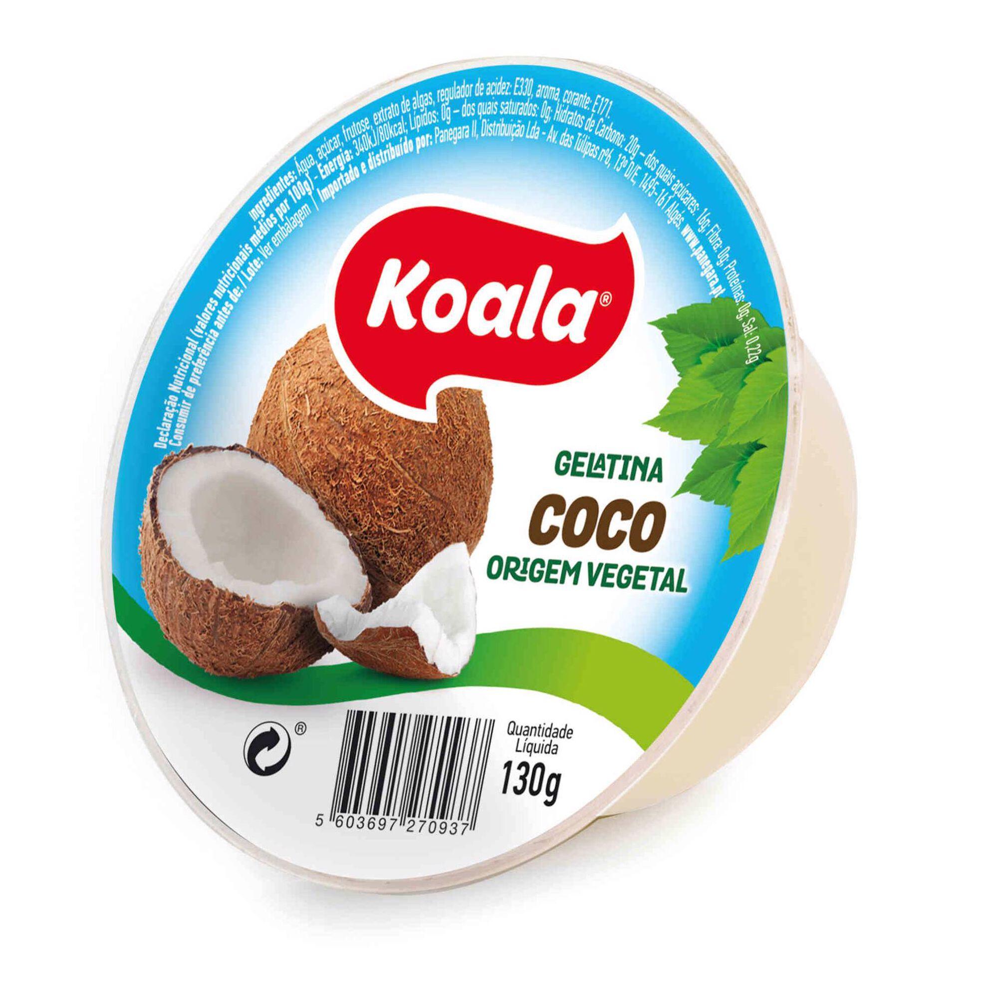 Gelatina Pronta de Coco