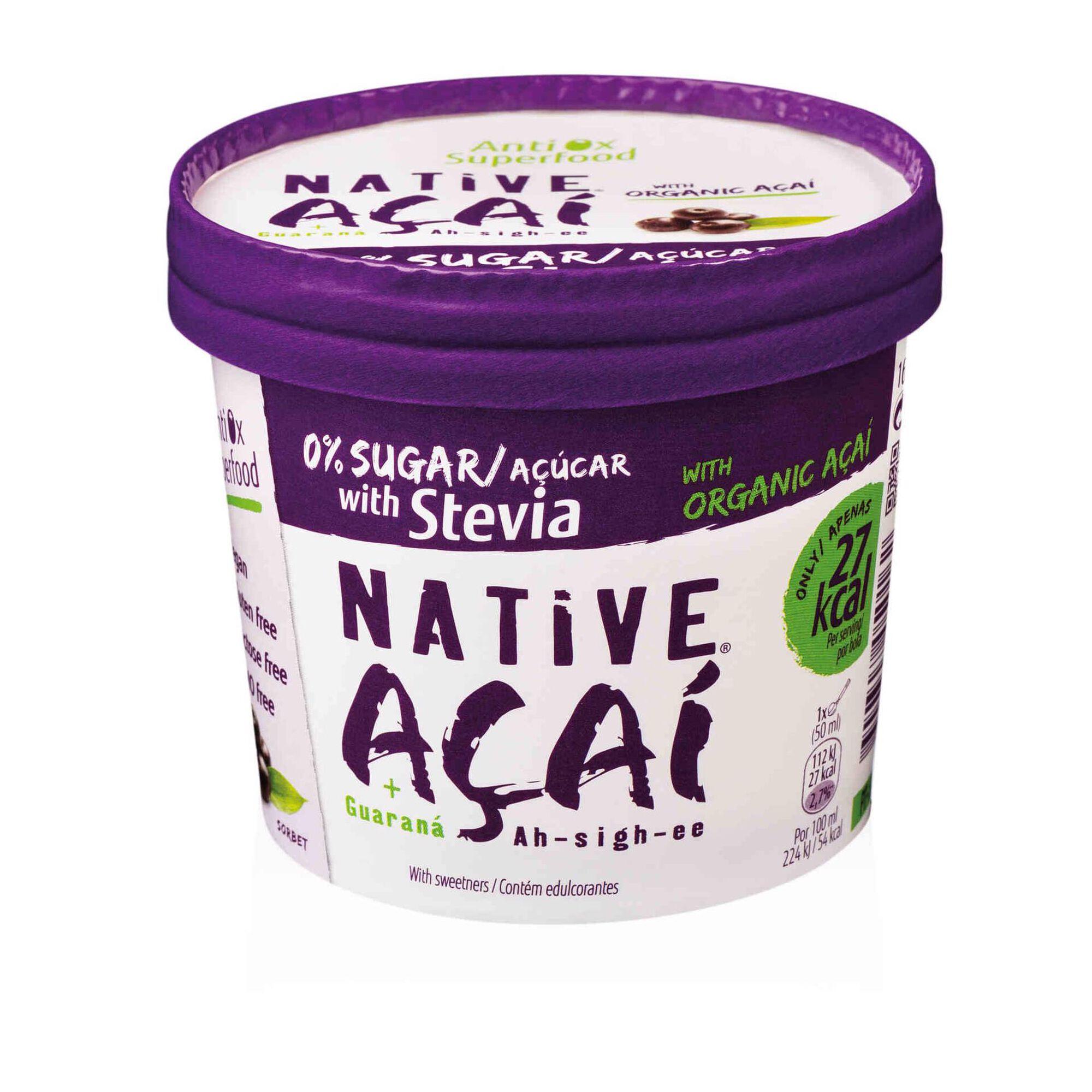Sorvete de Açaí com Stevia