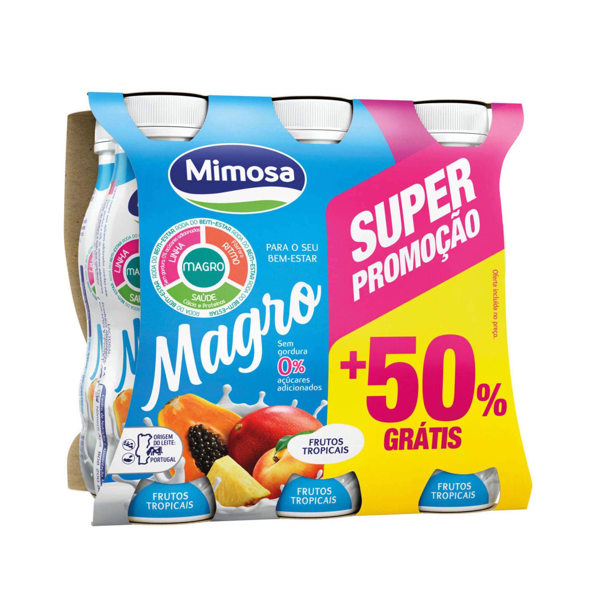 Iogurte Líquido Magro Frutos Tropicais