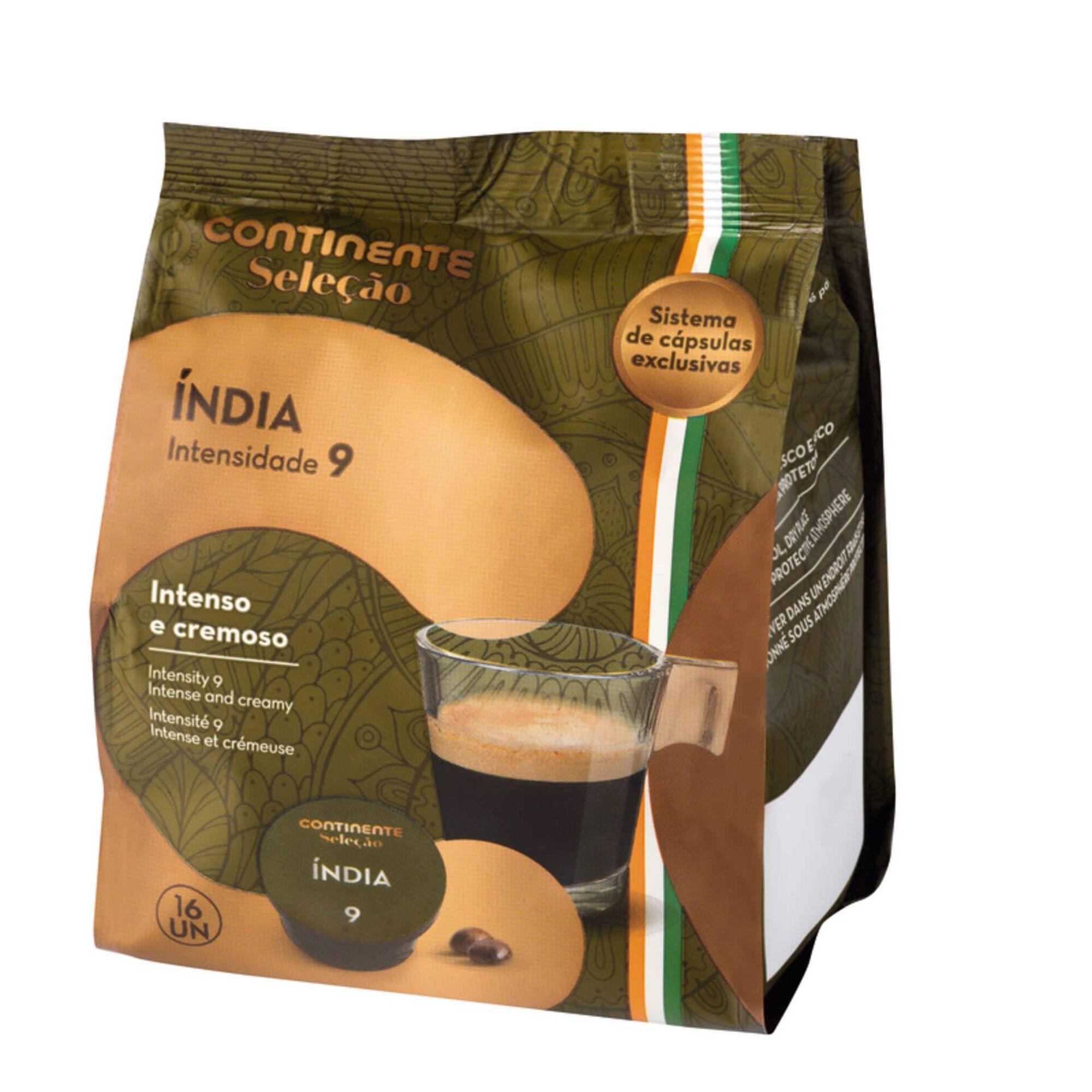 Cápsulas de Café Índia Int 9