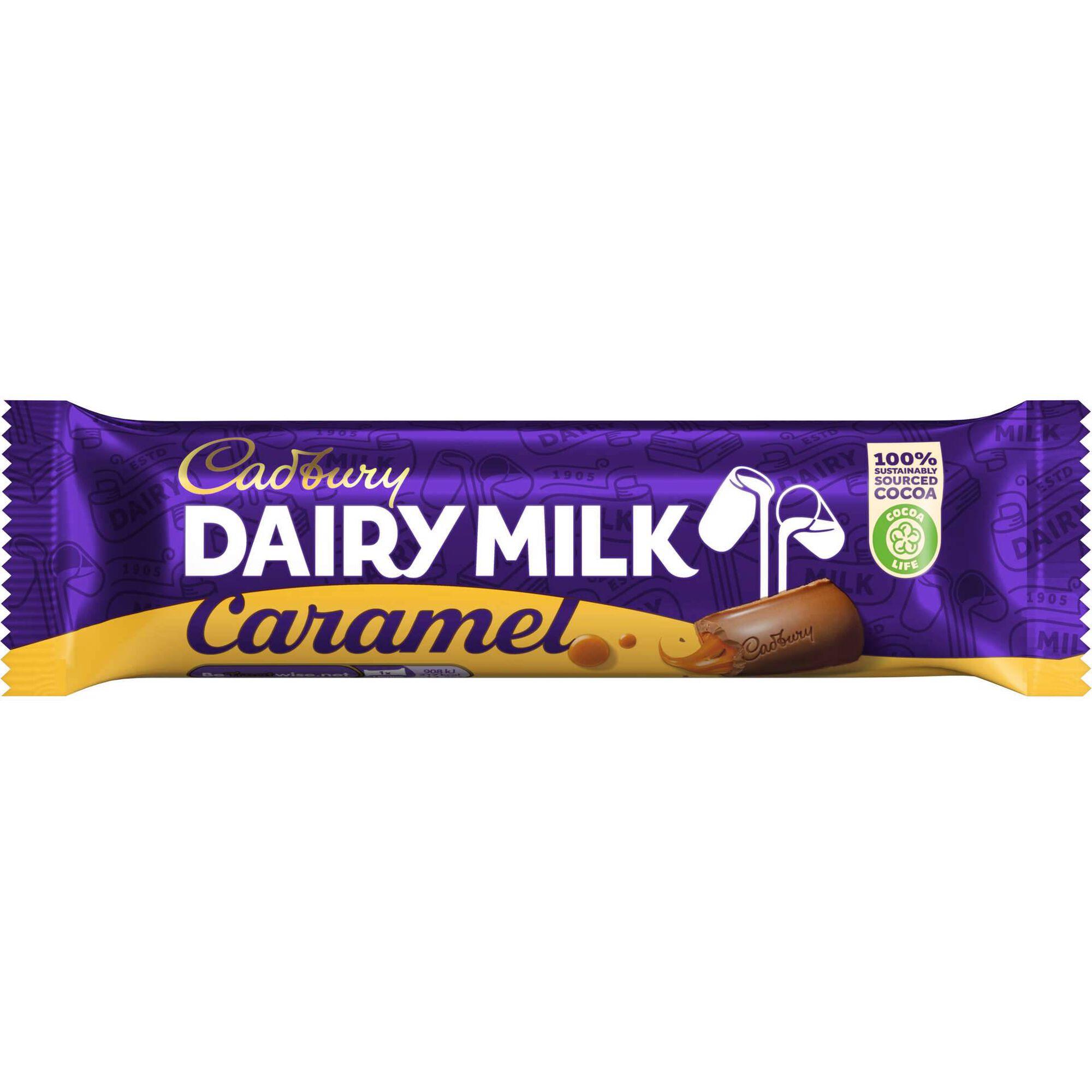 Snack de Chocolate de Leite com Caramelo Dairy Milk