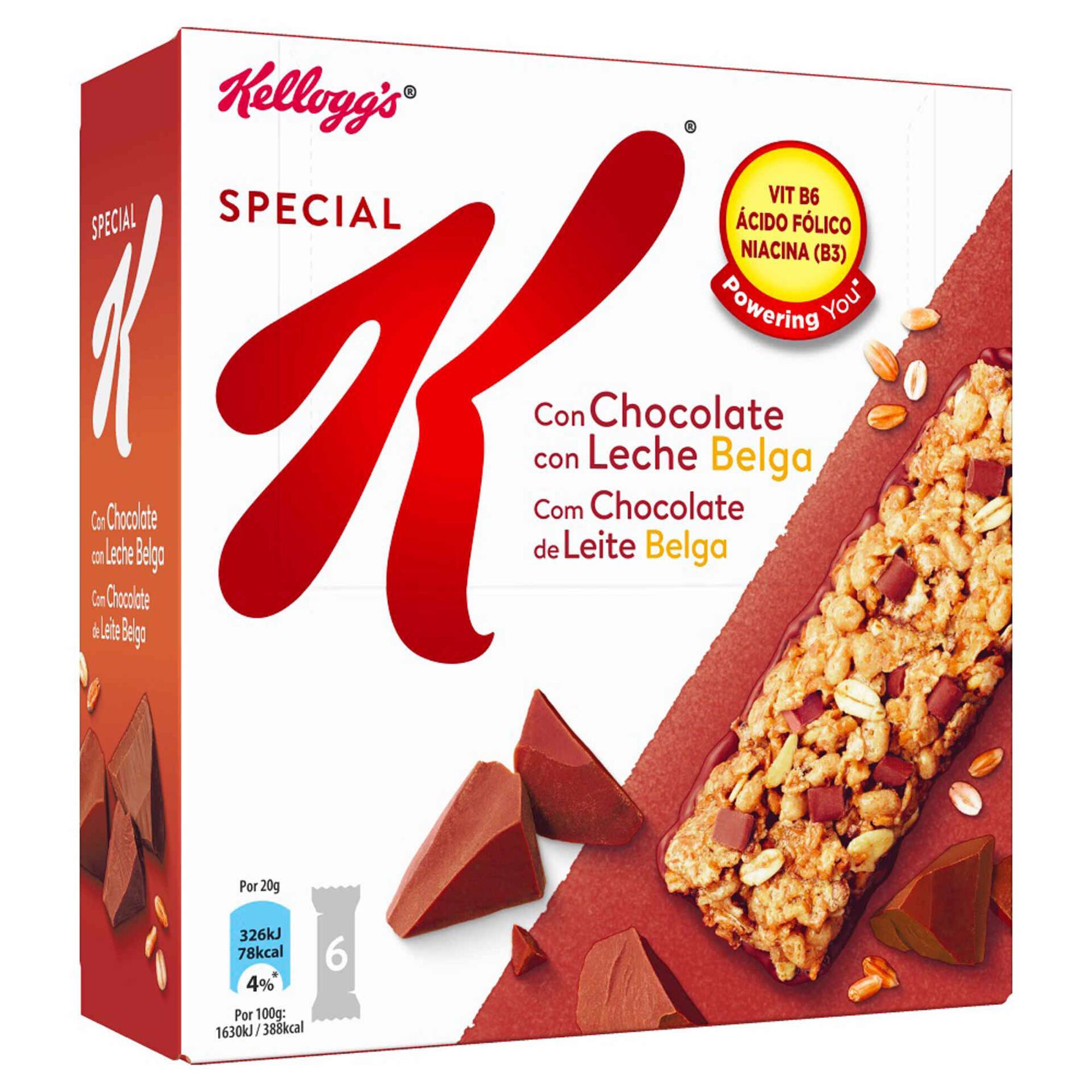 Barras de Cereais Chocolate de Leite Belga Special K
