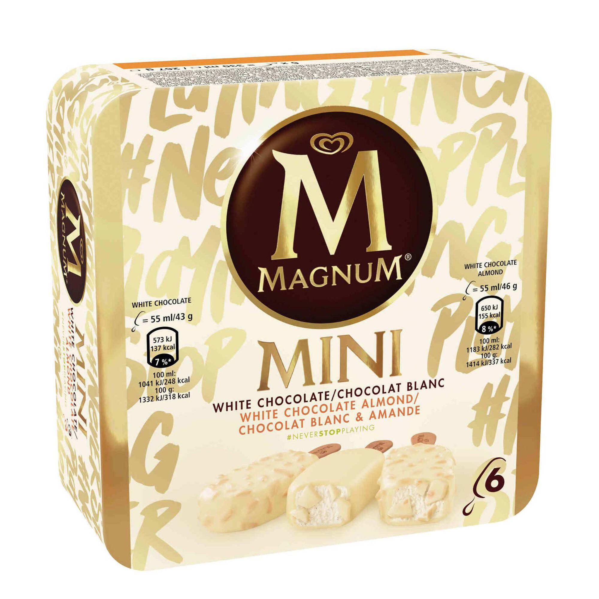 Gelado Mini de Chocolate Branco e Amêndoa