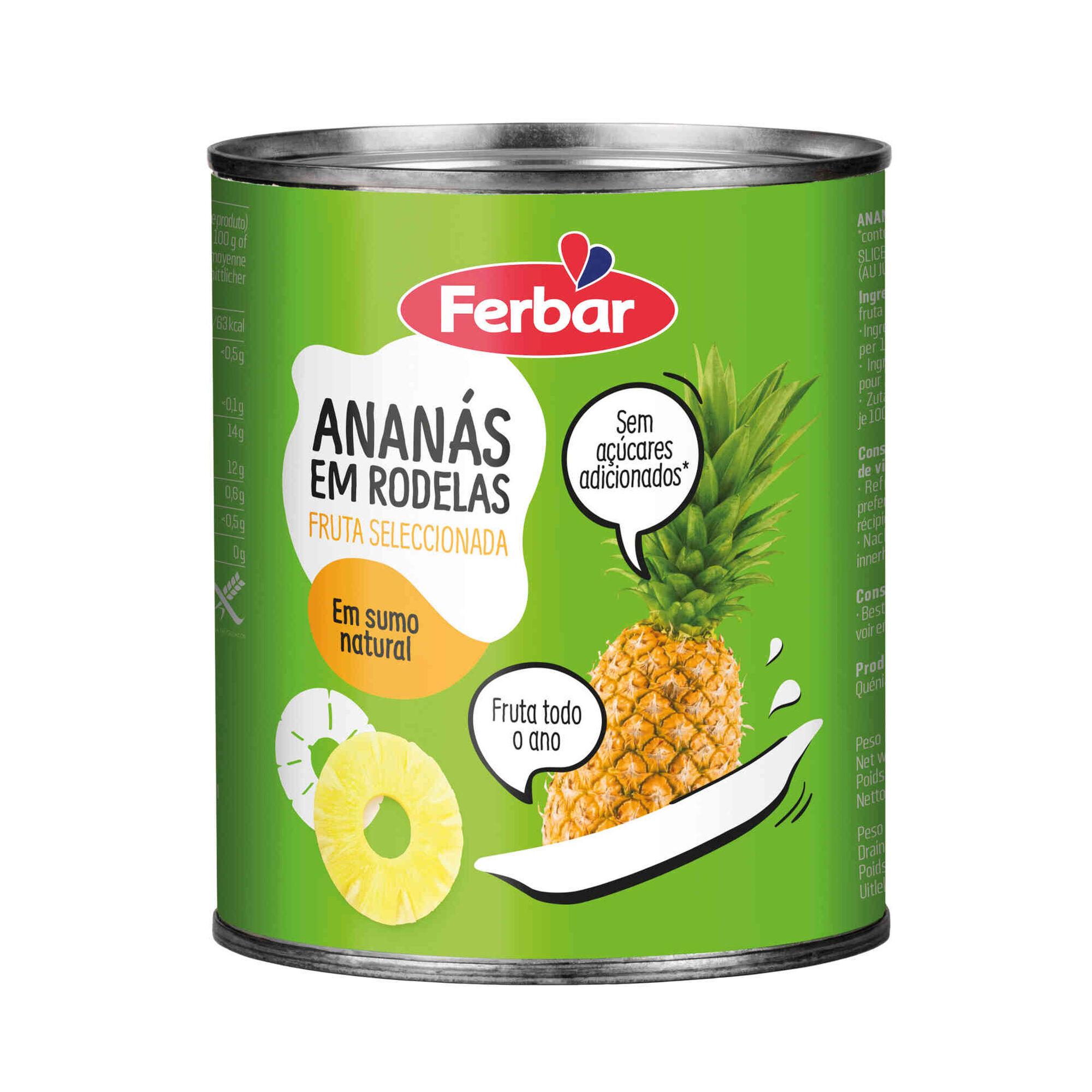 Ananás em Calda Sumo Natural