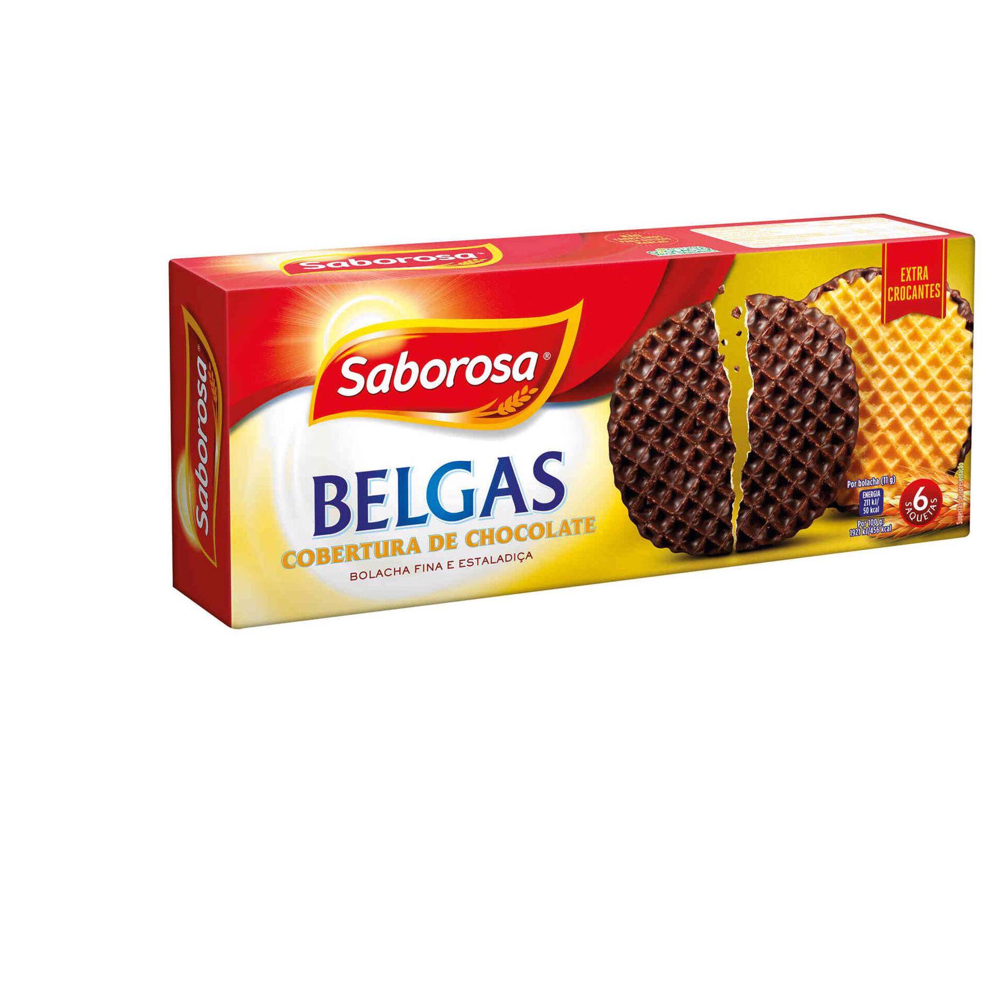 Bolachas Belgas Cobertas com Chocolate