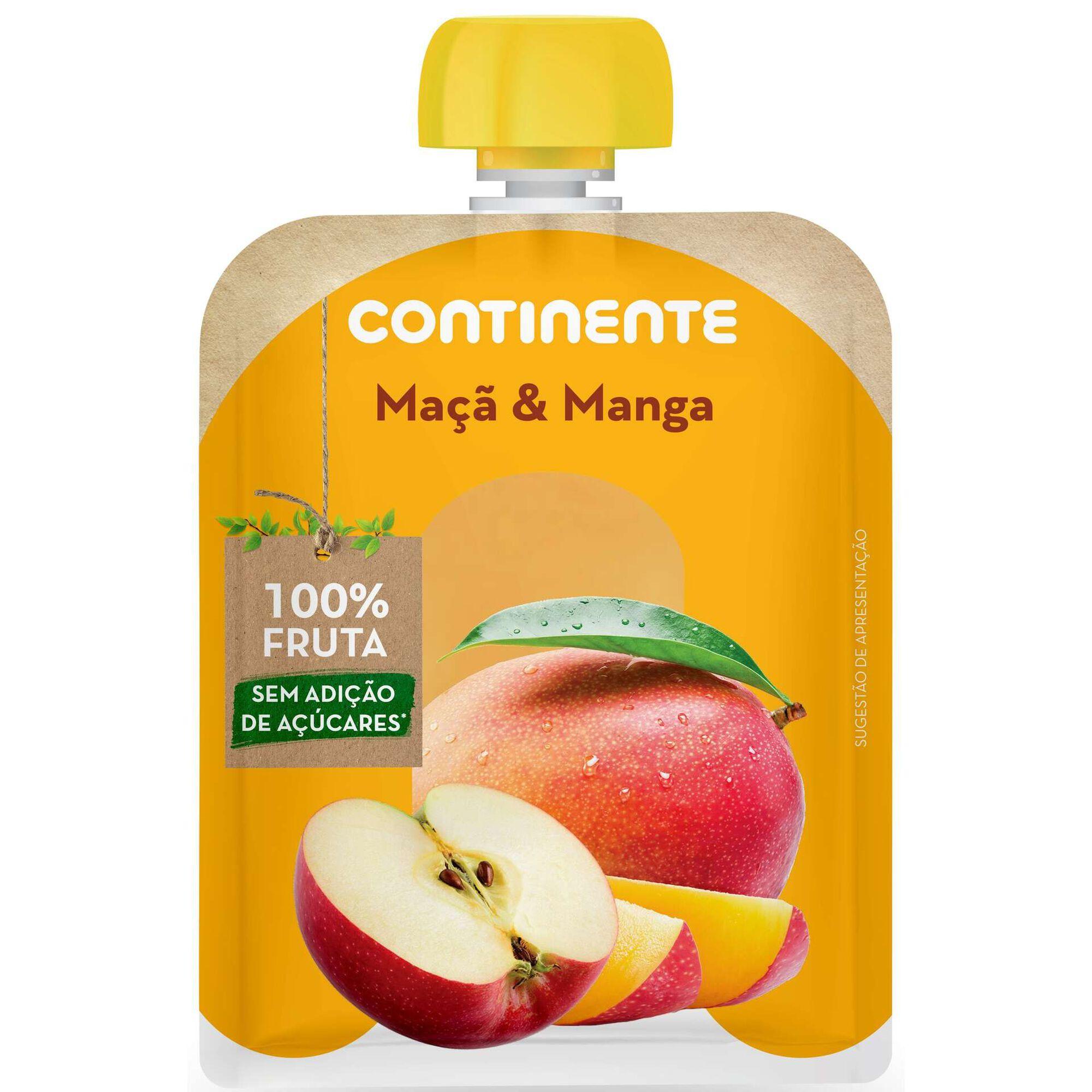 Saqueta de Fruta Maçã e Manga