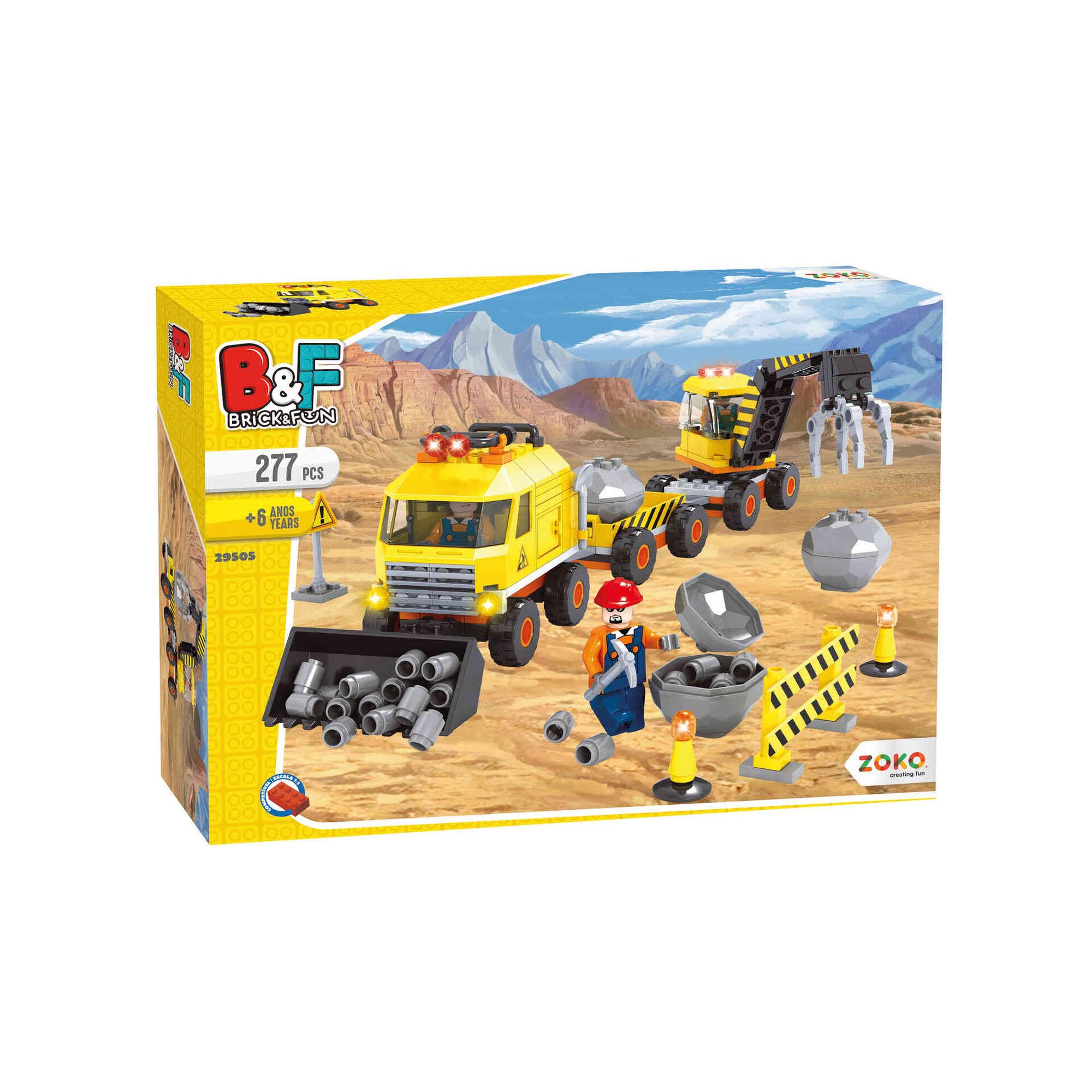 Playset Polícia/Bombeiros/Construção (vários modelos)