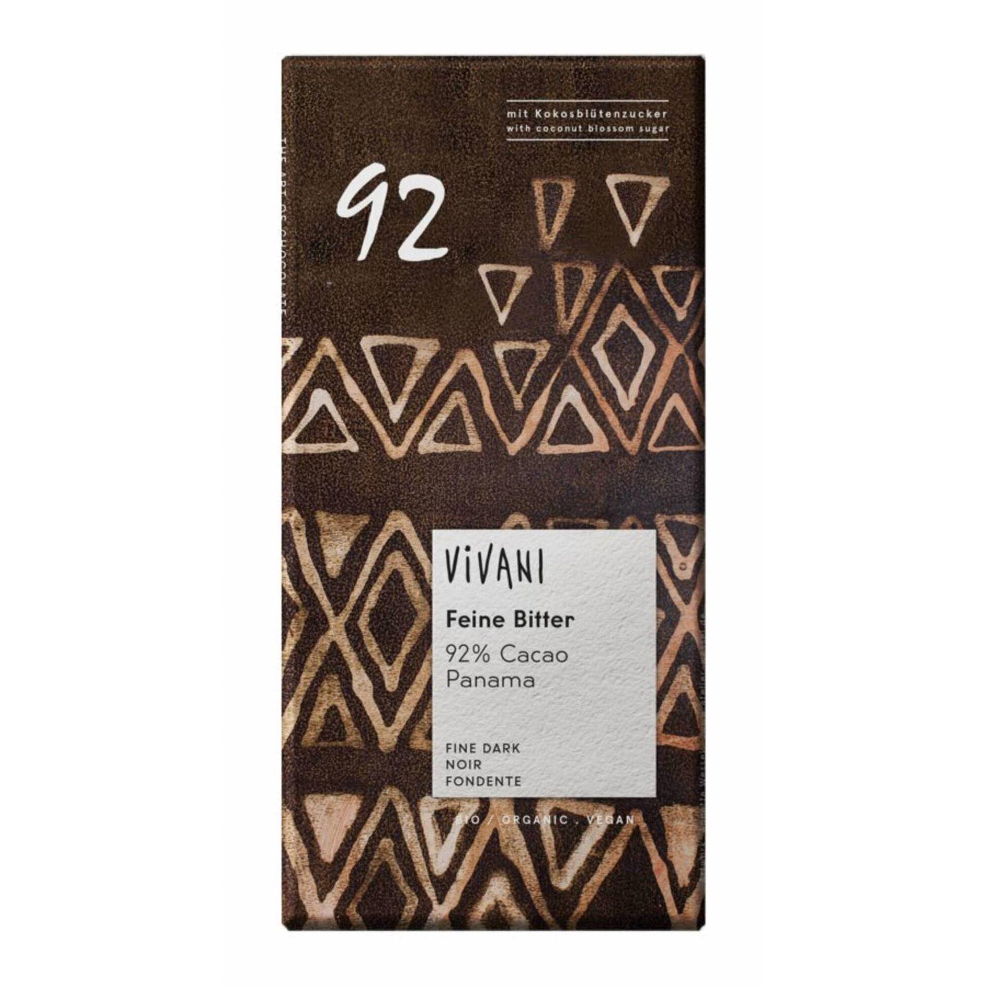 Tablete de Chocolate 92% Cacau com Açúcar de Coco Biológico