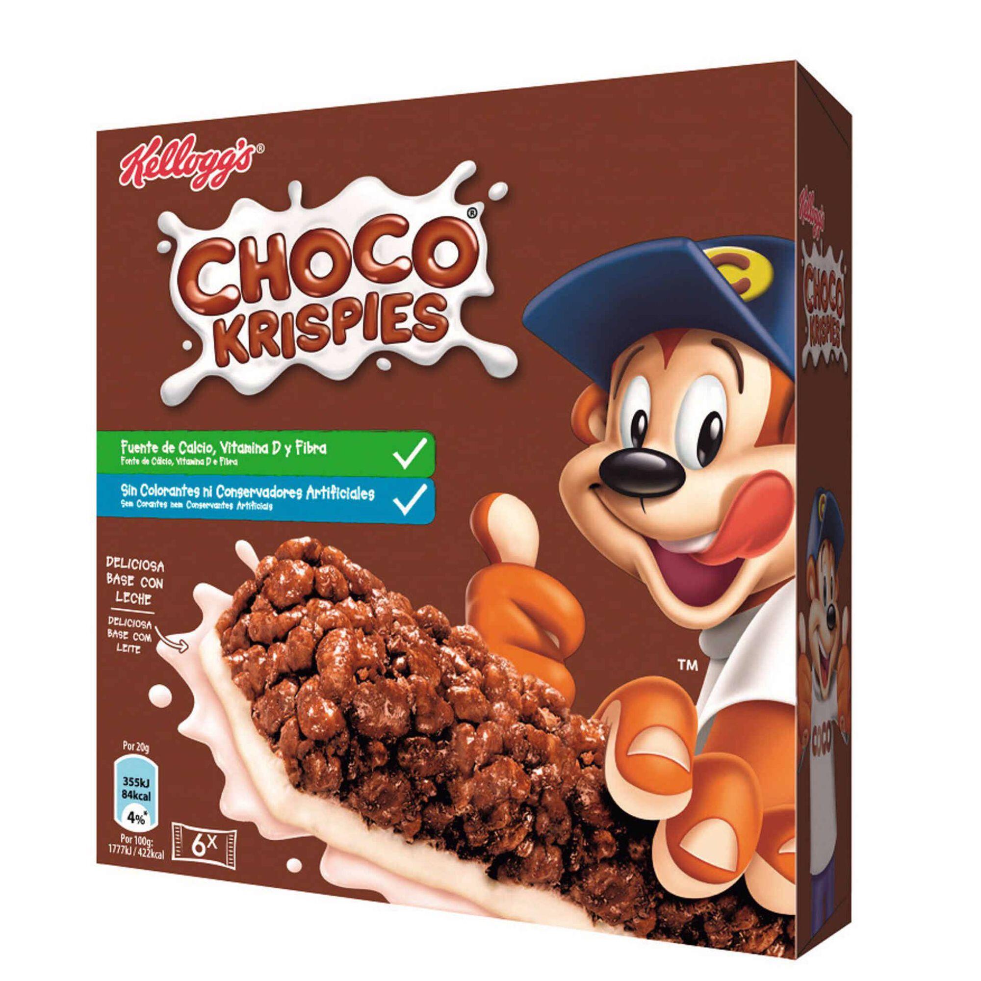 Barras de Cereais Chocolate Choco Krispies