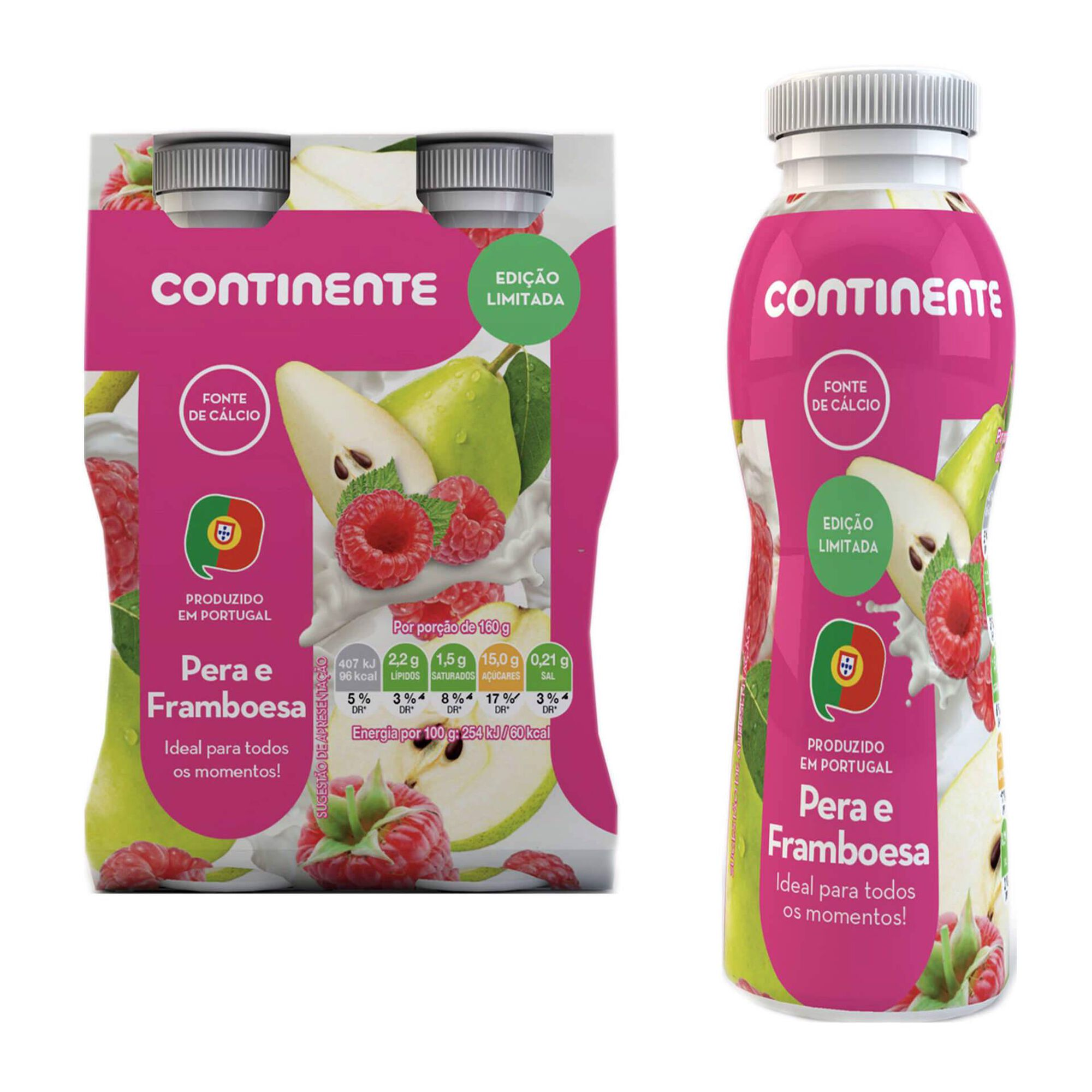 Iogurte Líquido Pera e Framboesa