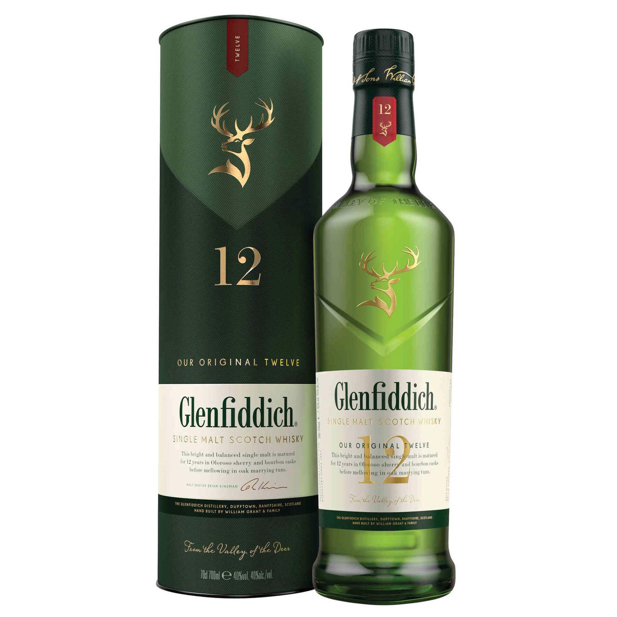 Whisky Malte Glenfiddich 12 Anos