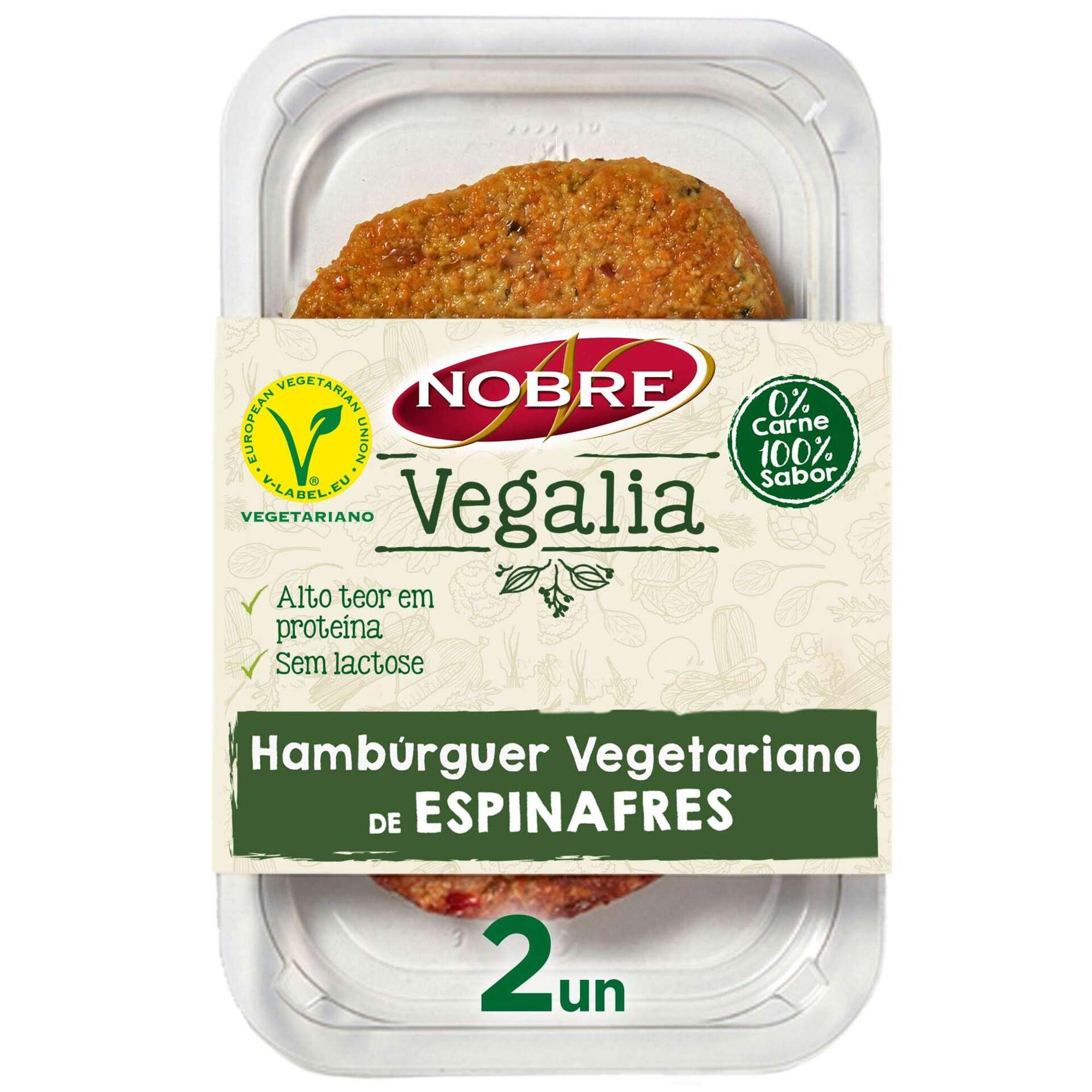 Hambúrguer Vegetariano de Espinafres
