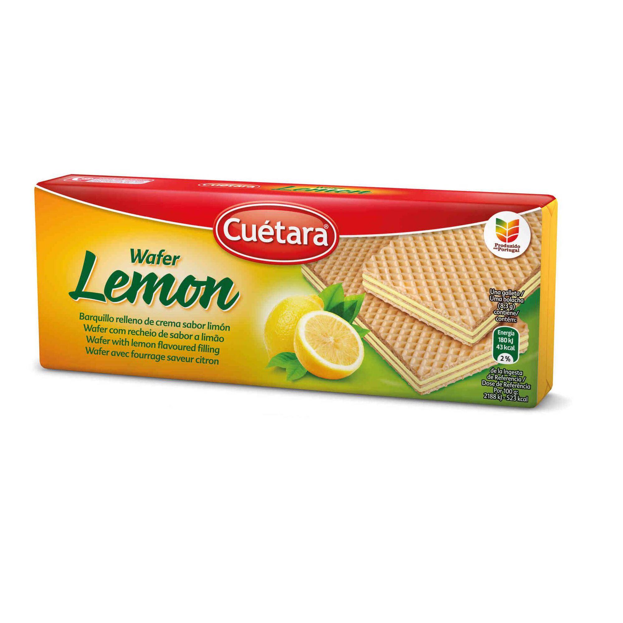 Bolachas Wafers com Recheio de Limão