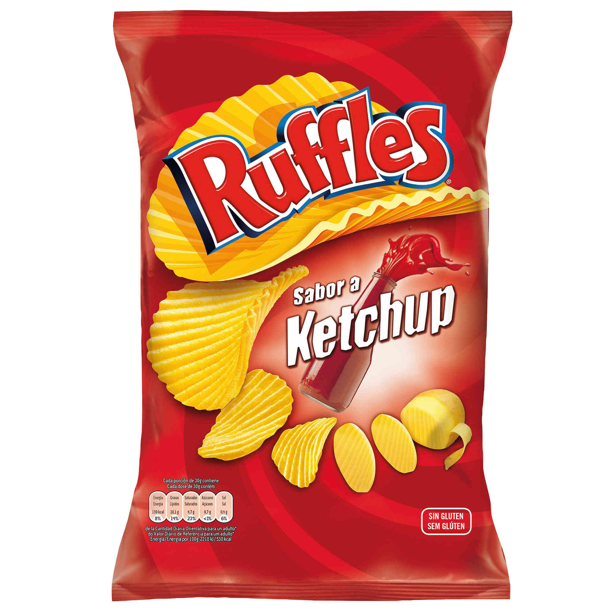 Batata Frita Ondulada Sabor Ketchup sem Glúten